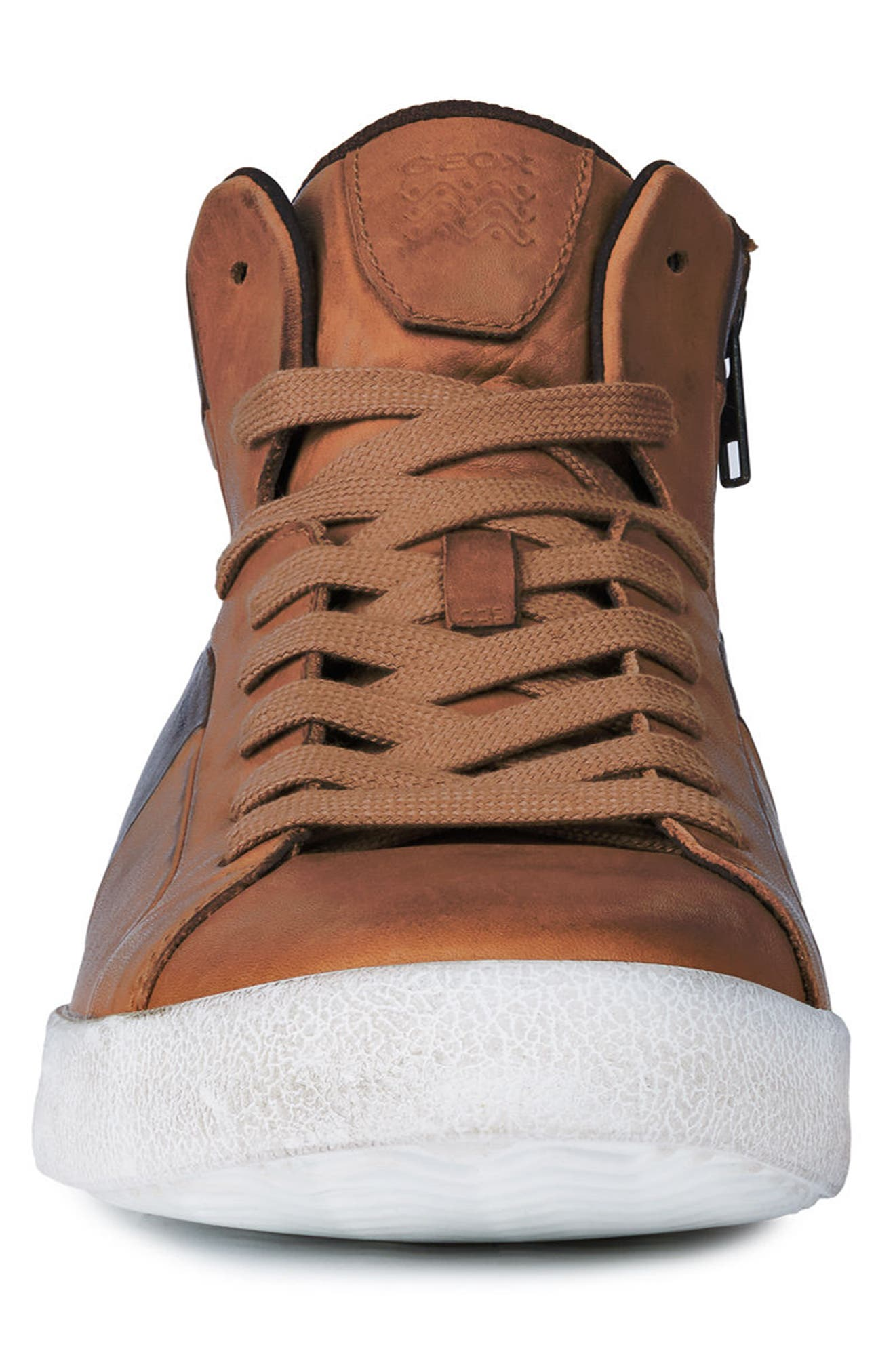 Smart 84 High Top Sneaker,                             Alternate thumbnail 4, color,                             COGNAC/ COFFEE LEATHER