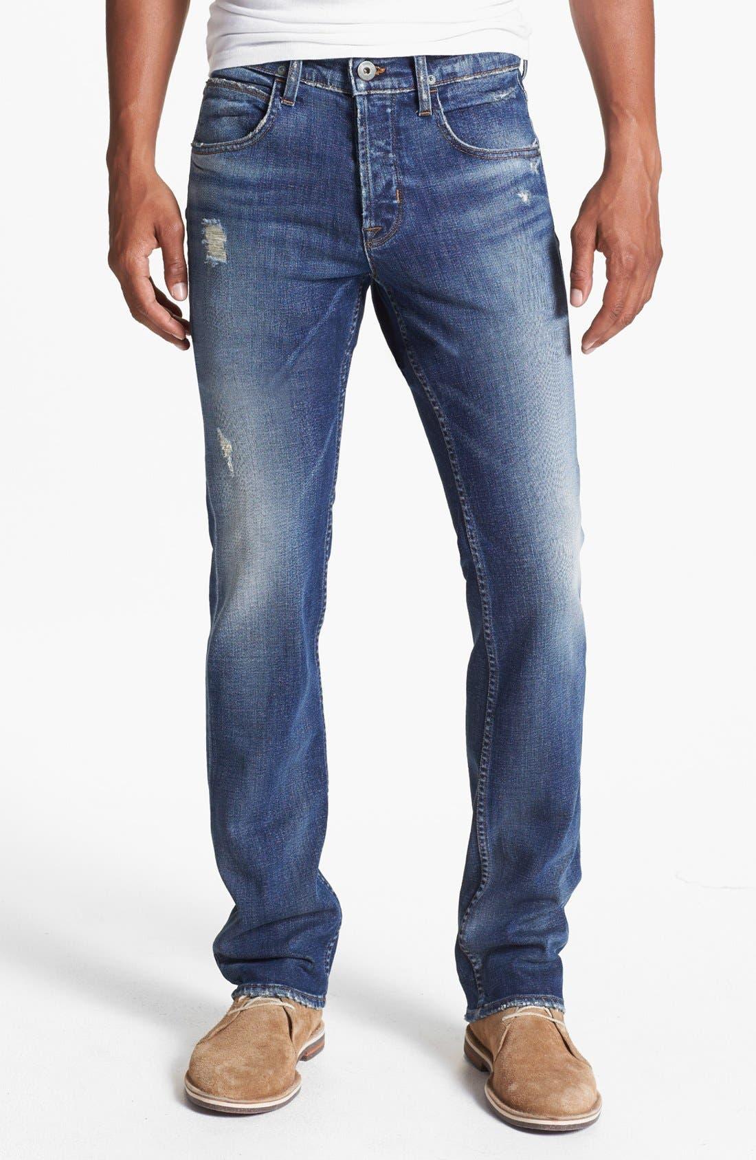 'Byron' Straight Leg Jeans, Main, color, 400