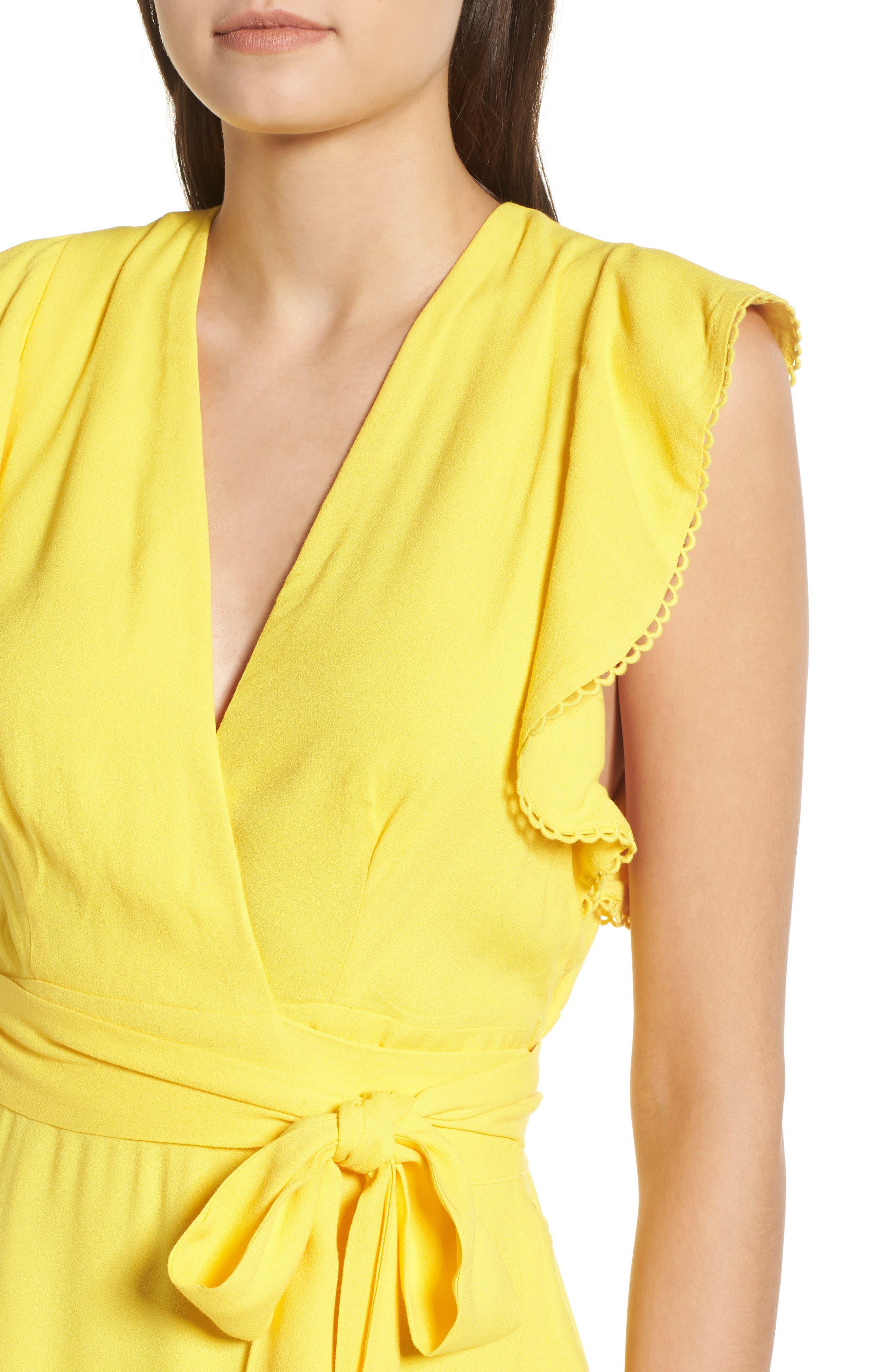Andrea Ruffle Wrap Dress,                             Alternate thumbnail 13, color,