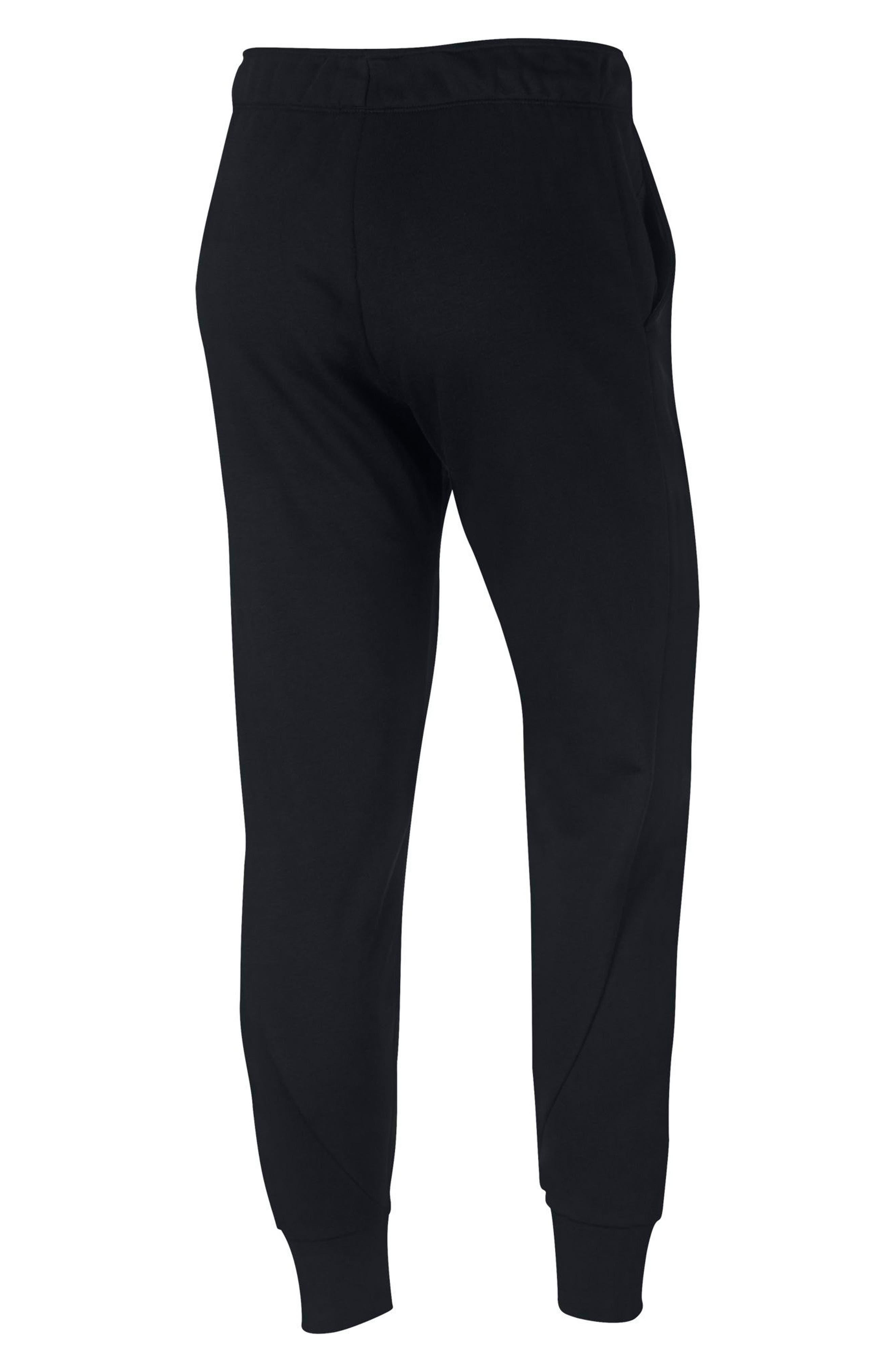 Tapered Training Pants,                             Alternate thumbnail 8, color,                             BLACK/ BLACK