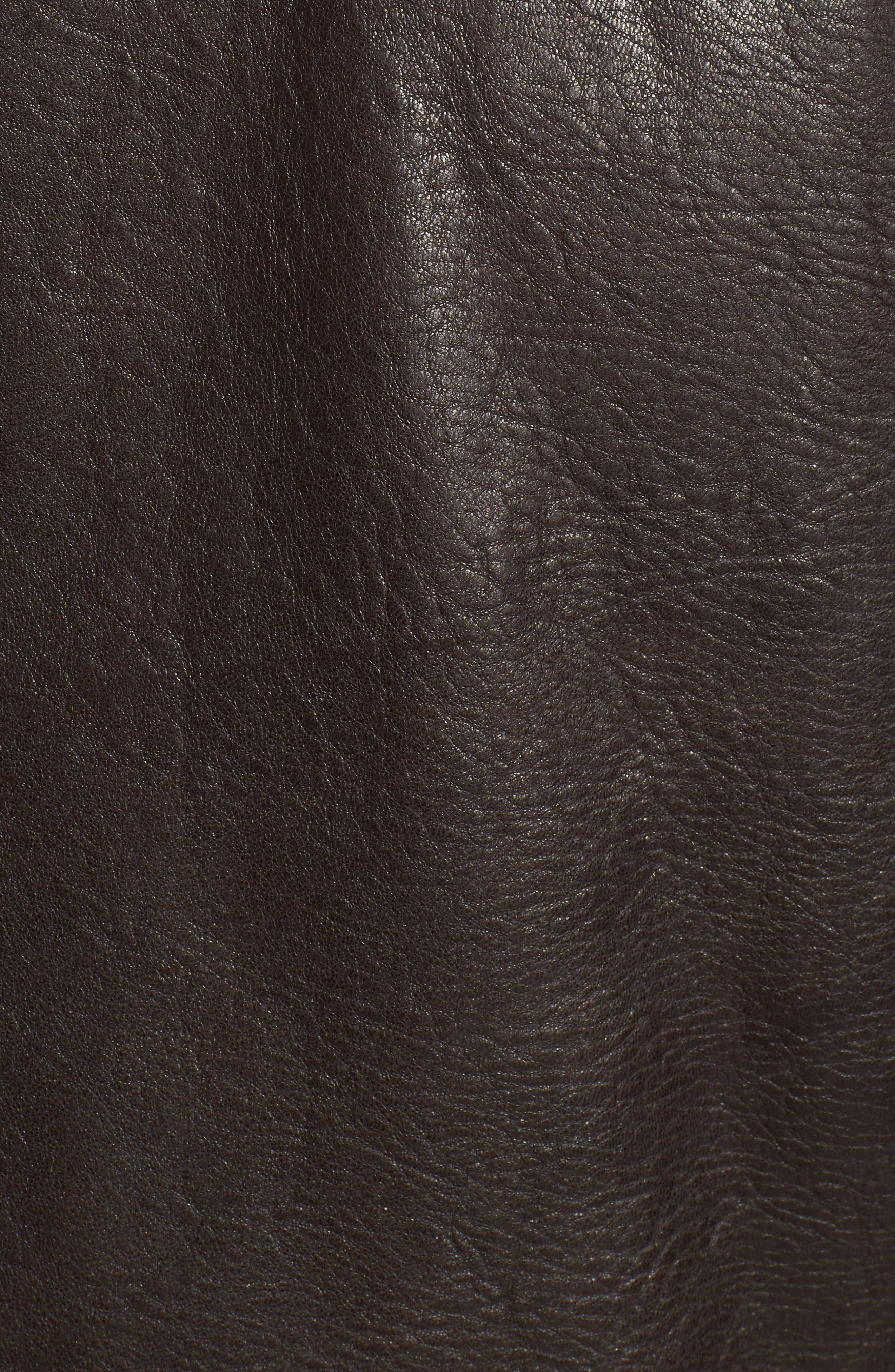 Morrison Spread Collar Leather Jacket,                             Alternate thumbnail 6, color,                             200