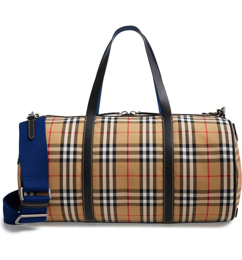 8c72a7417449 Burberry Medium Kennedy Vintage Check Duffel Bag