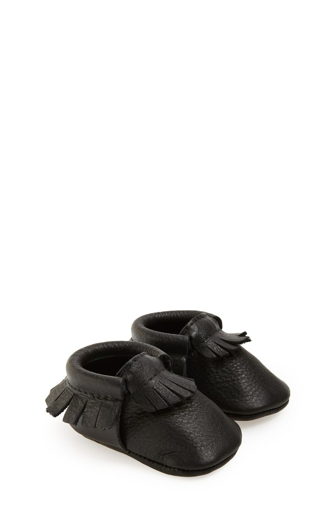 FRESHLY PICKED Leather Moccasin, Main, color, 001
