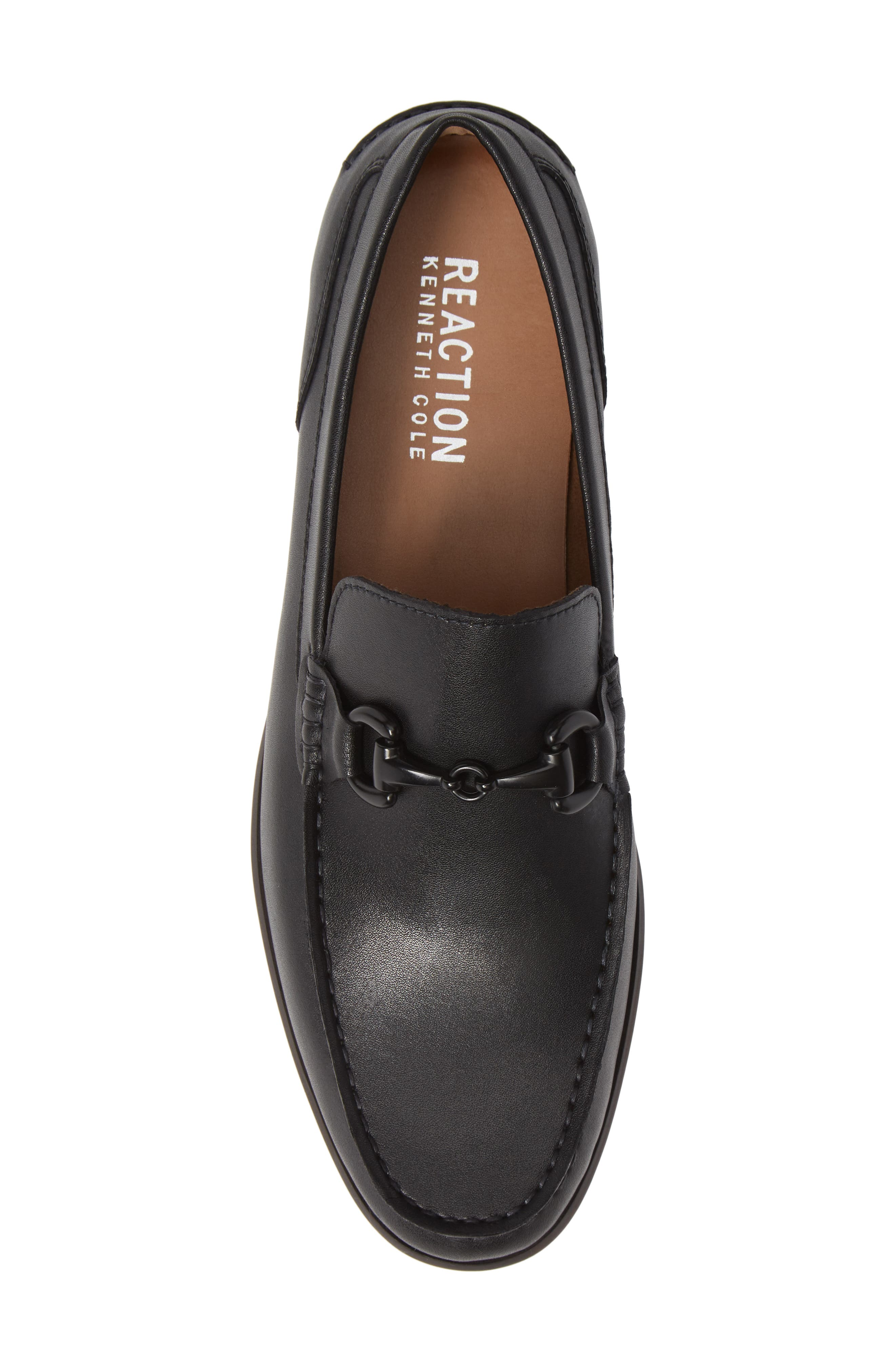 Crespo Loafer,                             Alternate thumbnail 5, color,                             BLACK SYNTHETIC LEATHER
