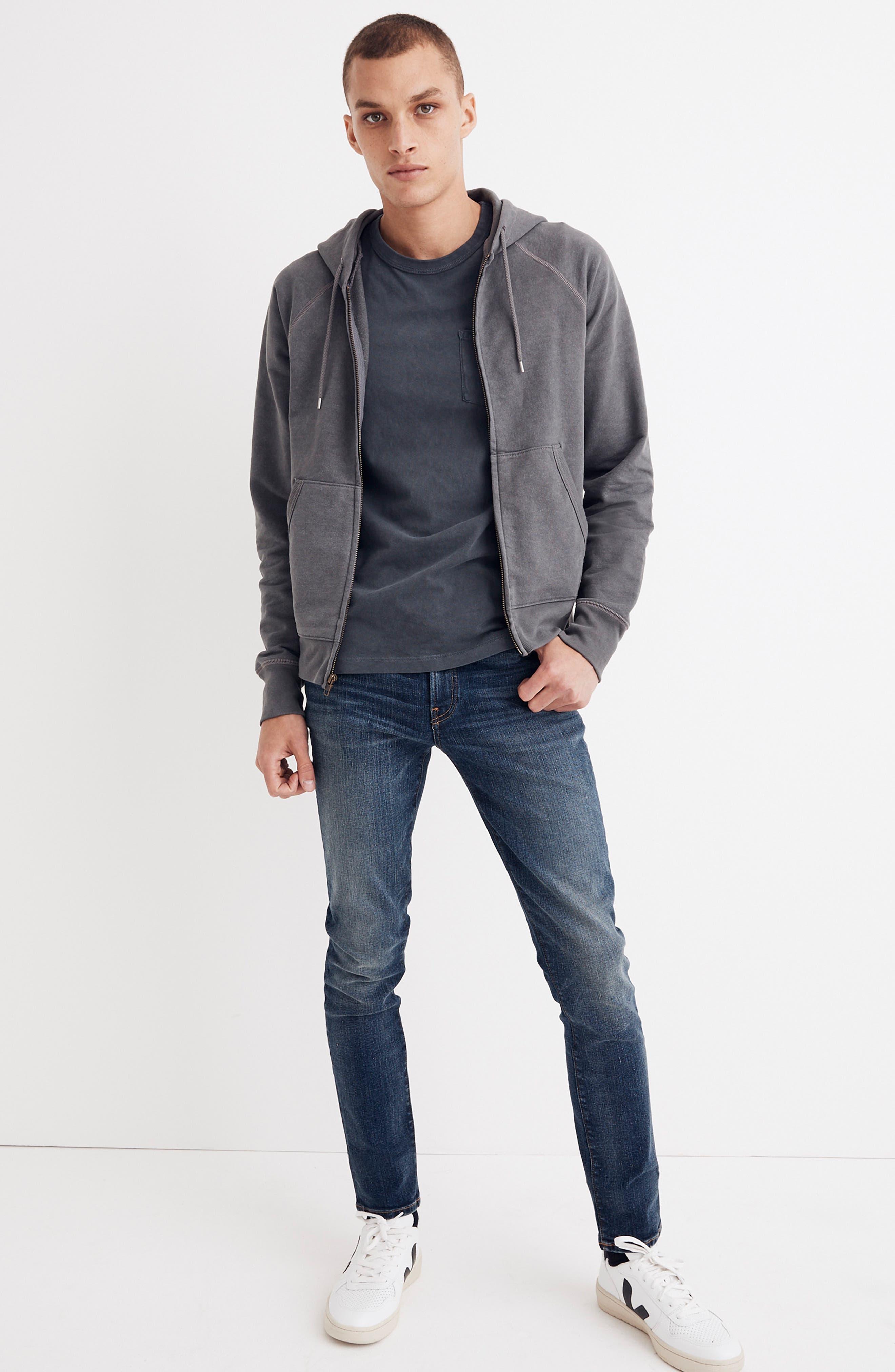 Skinny Fit Jeans,                             Alternate thumbnail 4, color,                             MEDIUM WASH