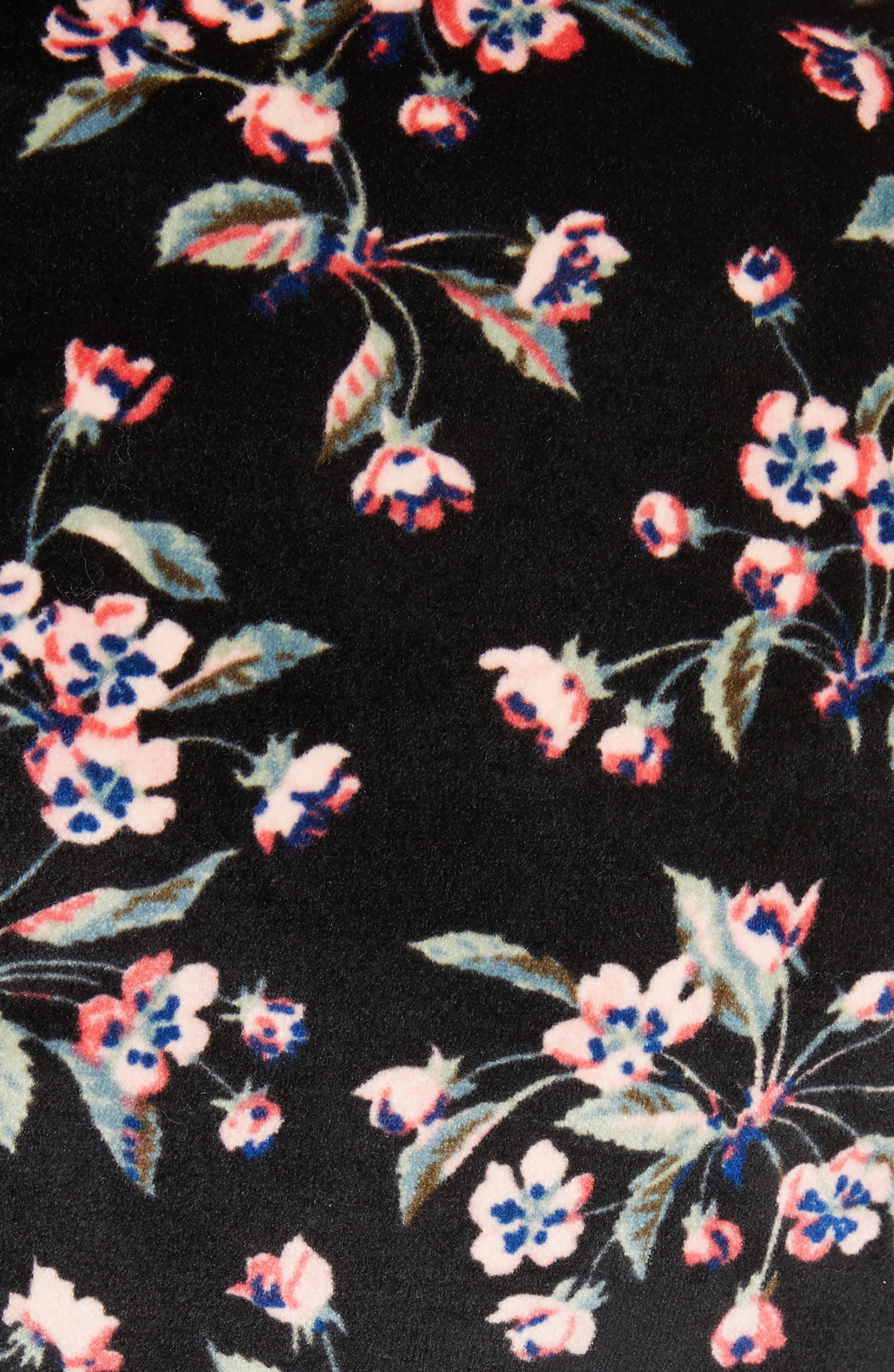 Tilda Velvet Top,                             Alternate thumbnail 5, color,                             BLACK COMBO