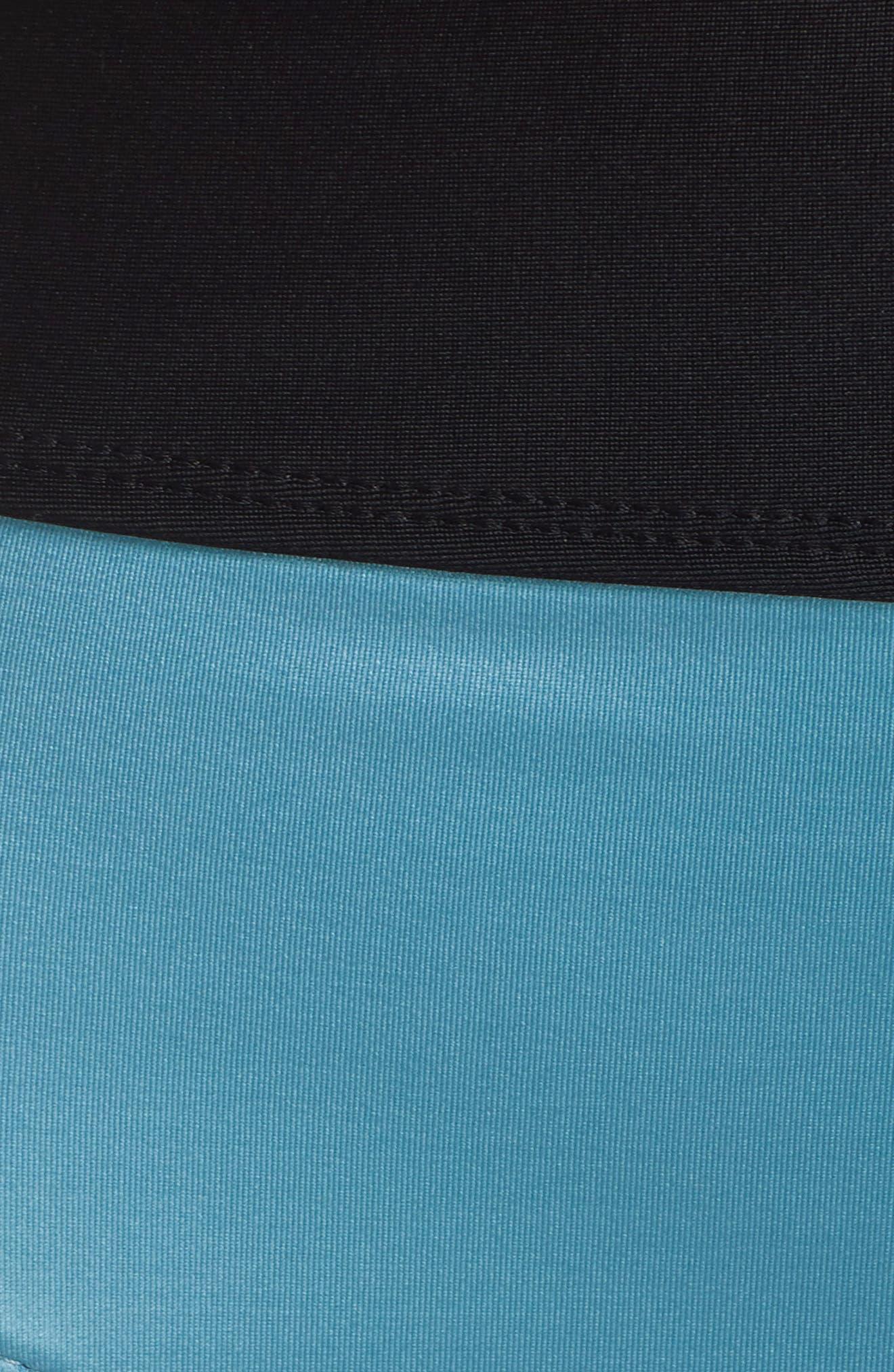 Element High Waist Bikini Bottoms,                             Alternate thumbnail 5, color,                             TEAL DOLPHIN