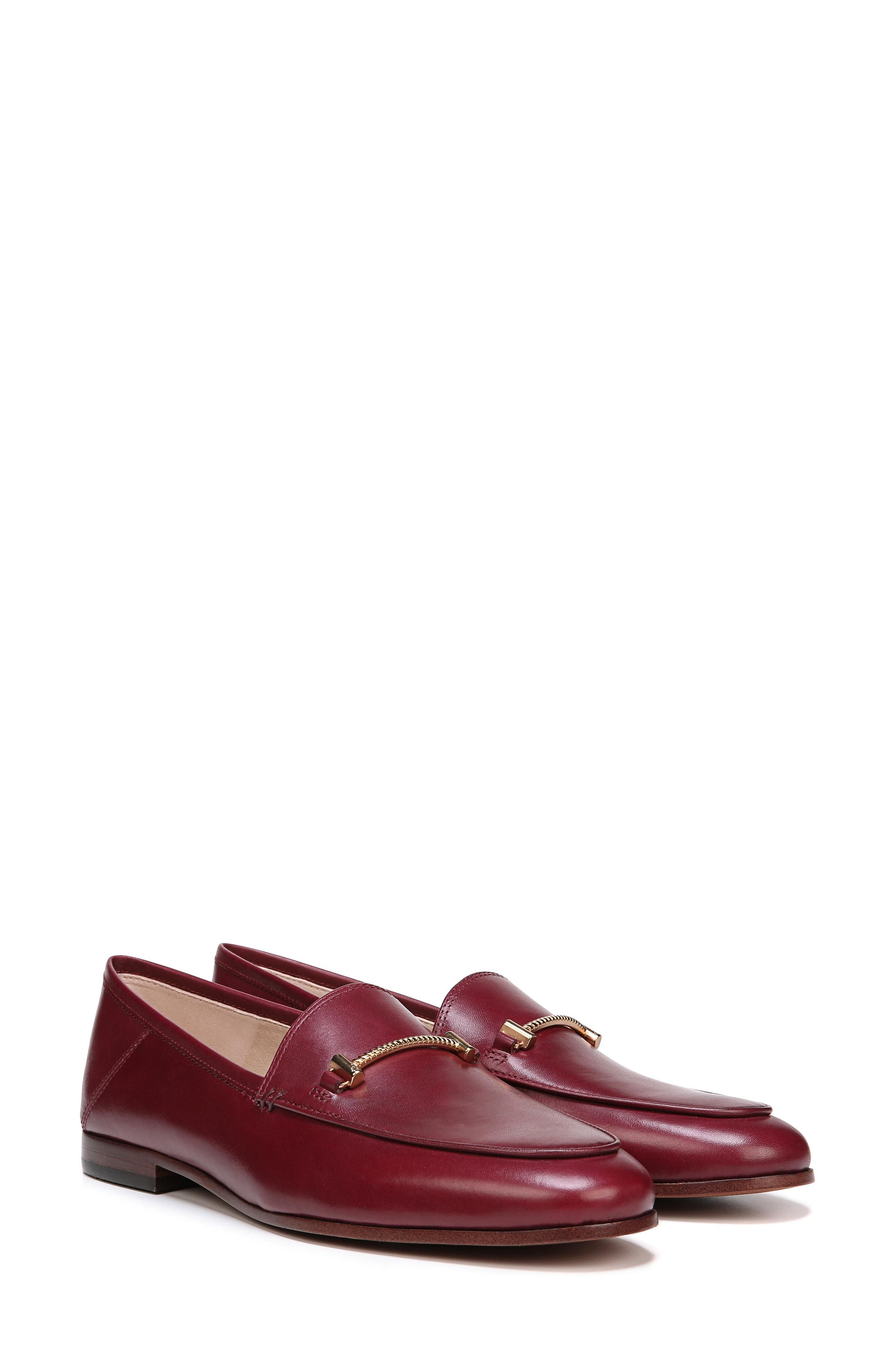 Lior Loafer,                             Alternate thumbnail 10, color,                             BEET RED LEATHER