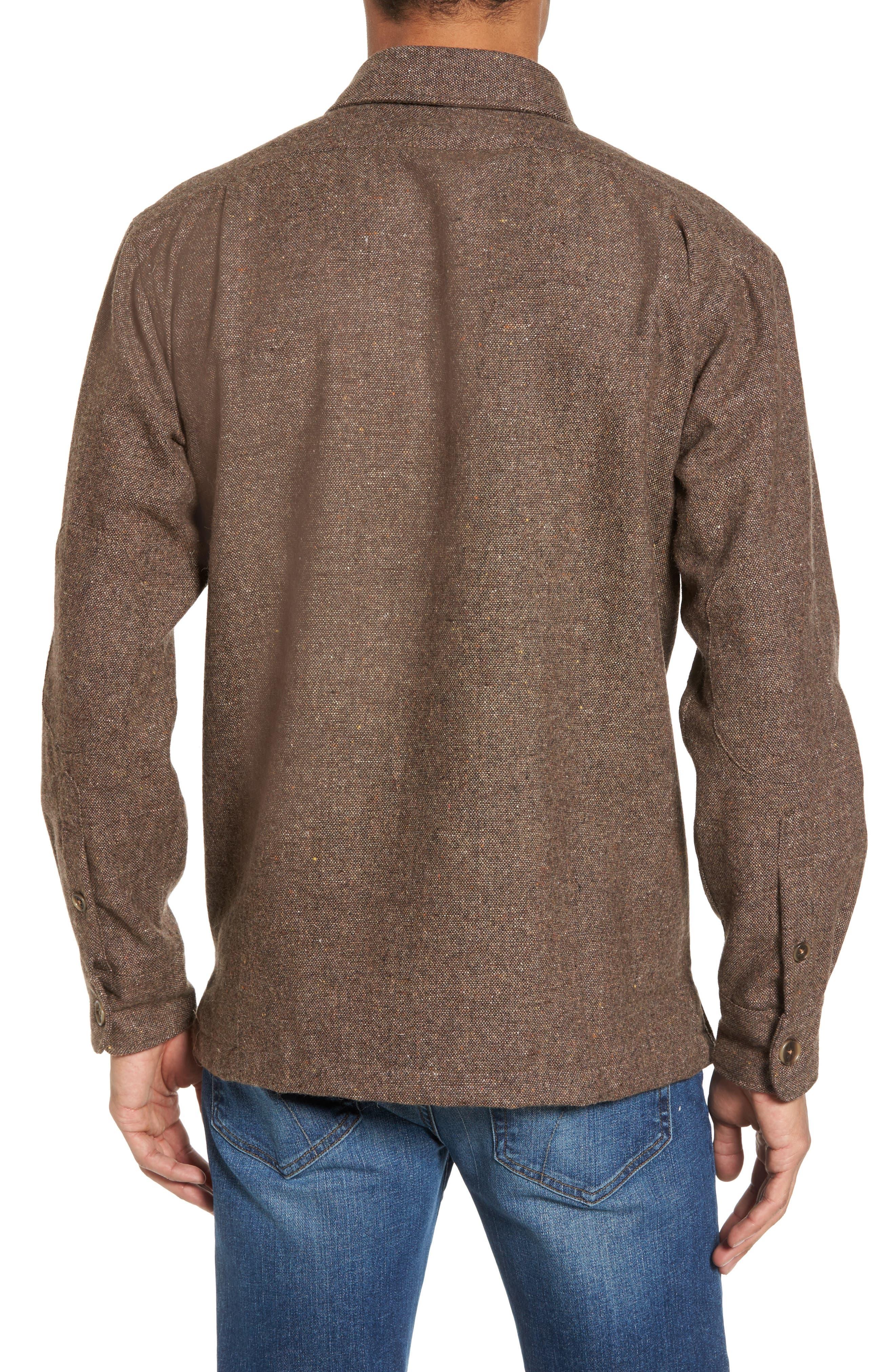 Slim Fit Wool Sport Shirt,                             Alternate thumbnail 2, color,