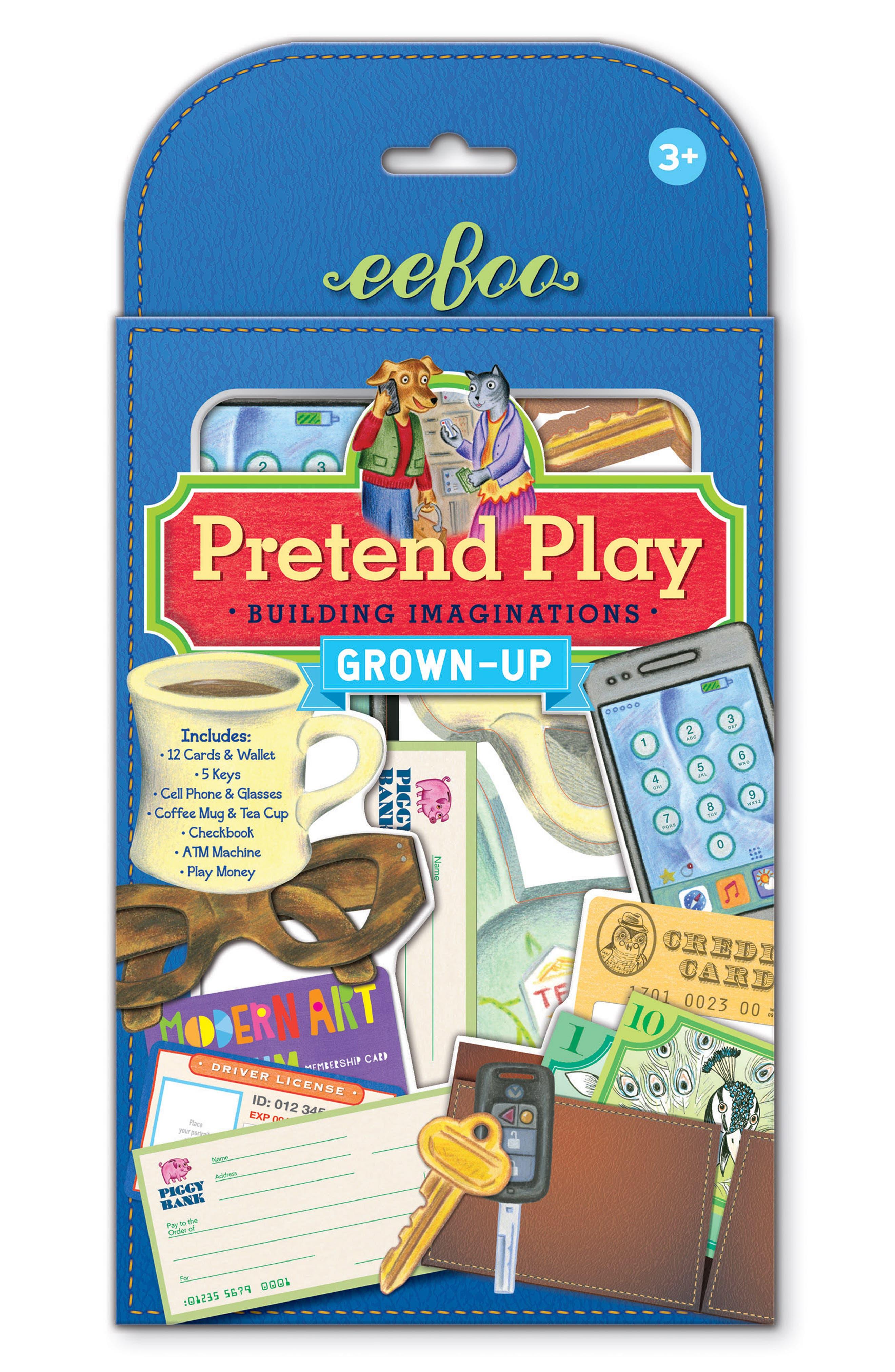 Grownup Pretend Play Set,                             Main thumbnail 1, color,                             BLUE