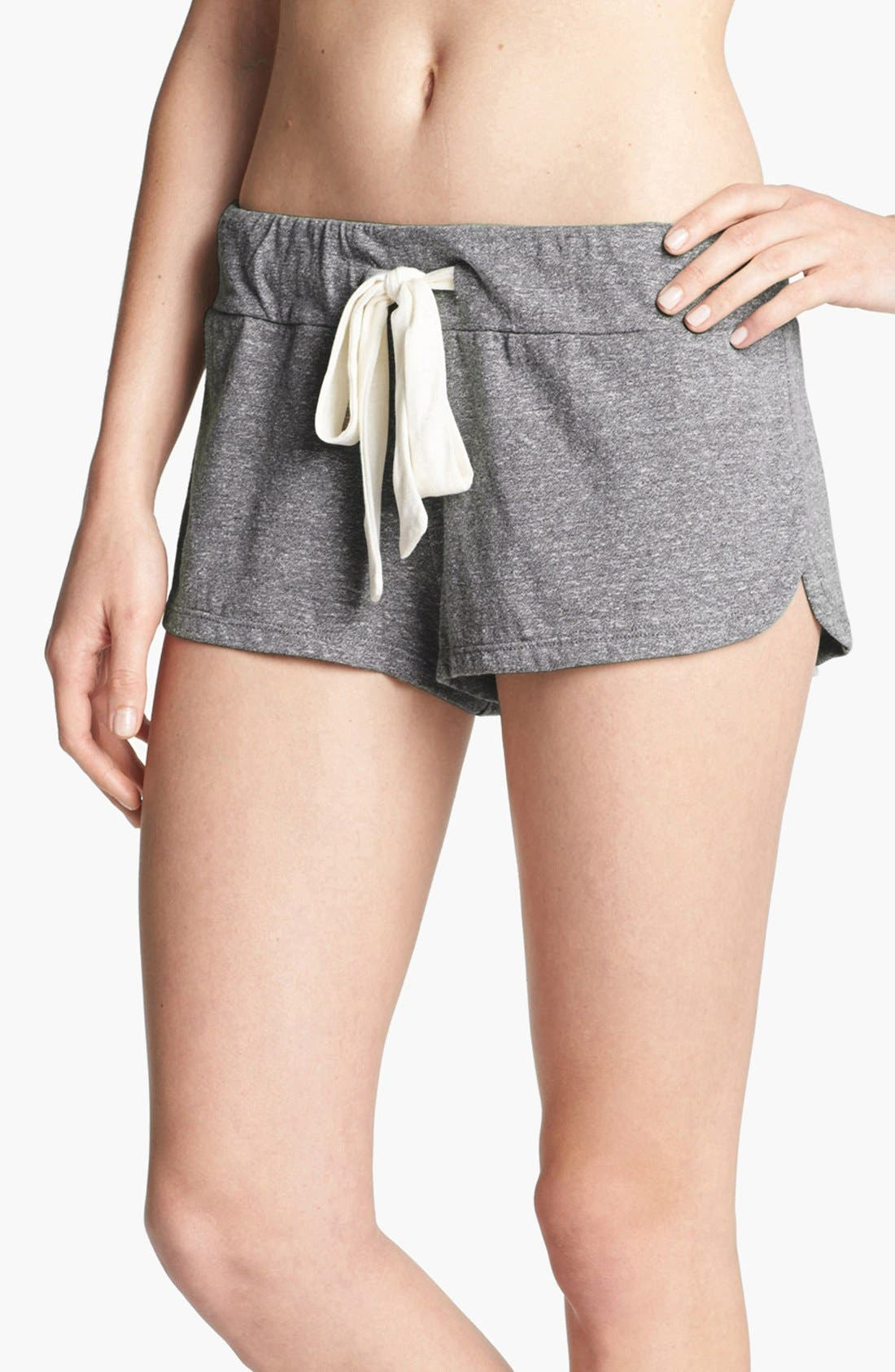 Heather Knit Shorts,                         Main,                         color, GREY HEATHER