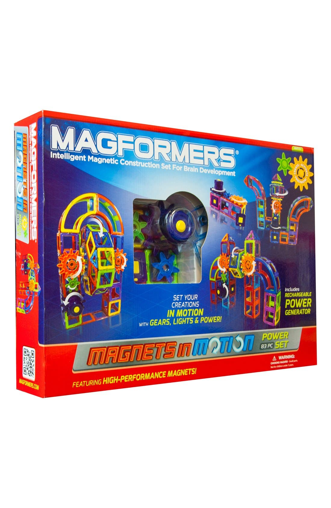 MAGFORMERS,                             'Magnets in Motion' Magnetic 3D Construction Set,                             Main thumbnail 1, color,                             MULTI
