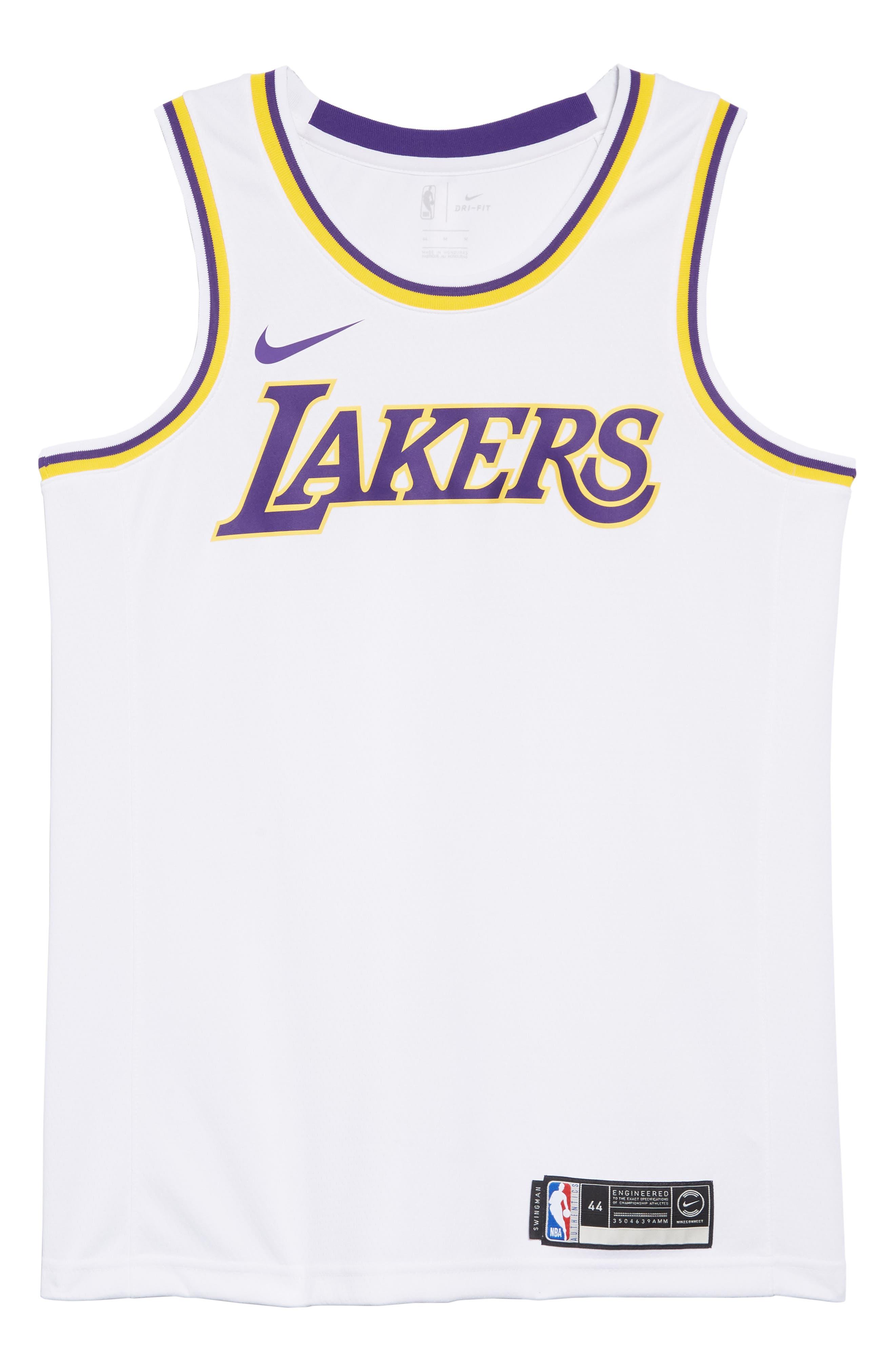 LA Lakers Swingman Home Jersey,                             Alternate thumbnail 6, color,                             100