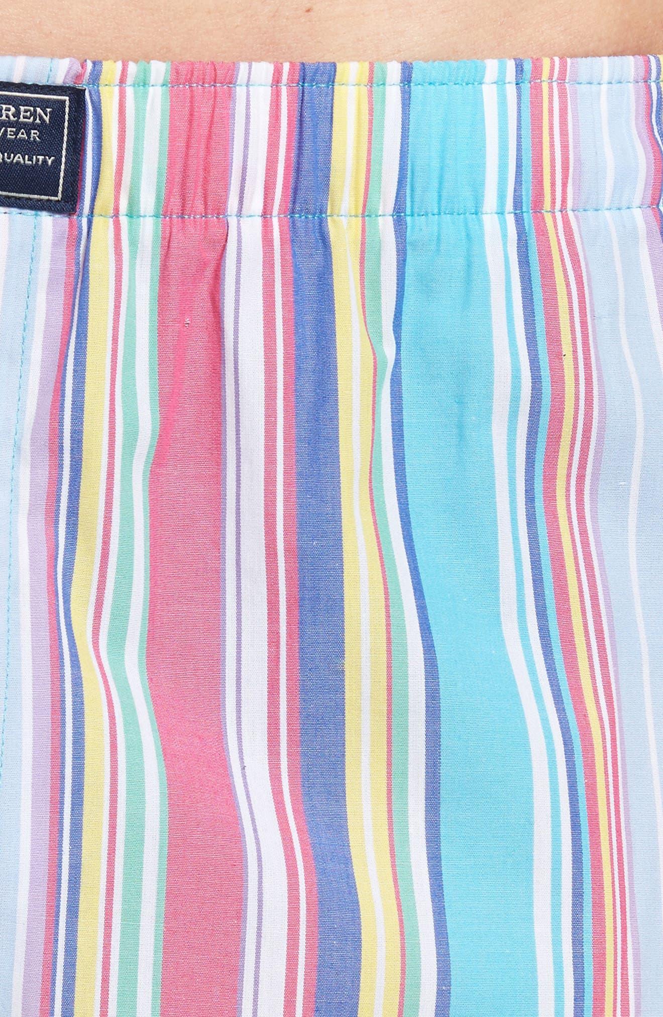 Stripe Cotton Boxers,                             Alternate thumbnail 15, color,