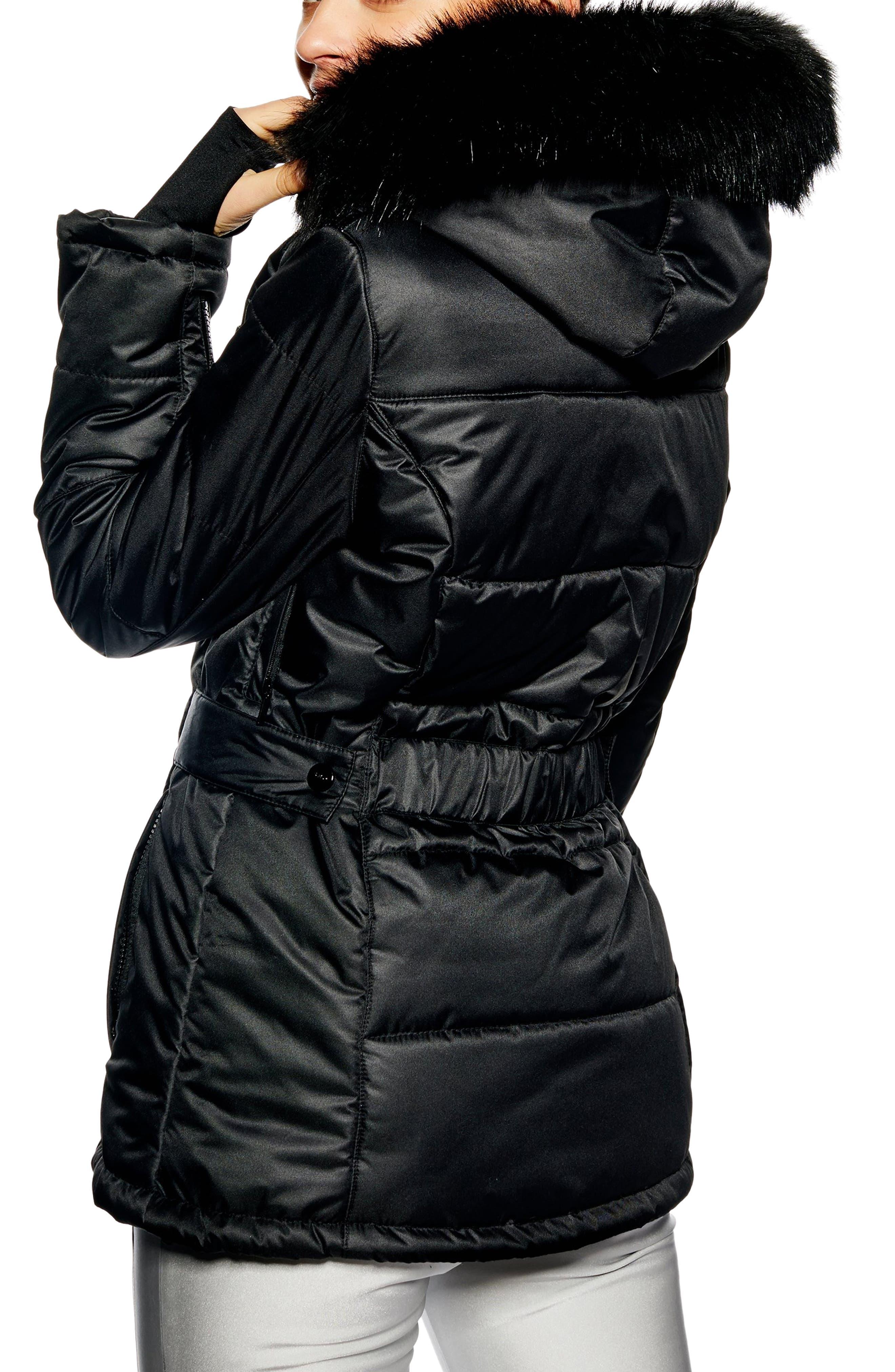 Sno Baby Ski Jacket,                             Alternate thumbnail 2, color,                             BLACK