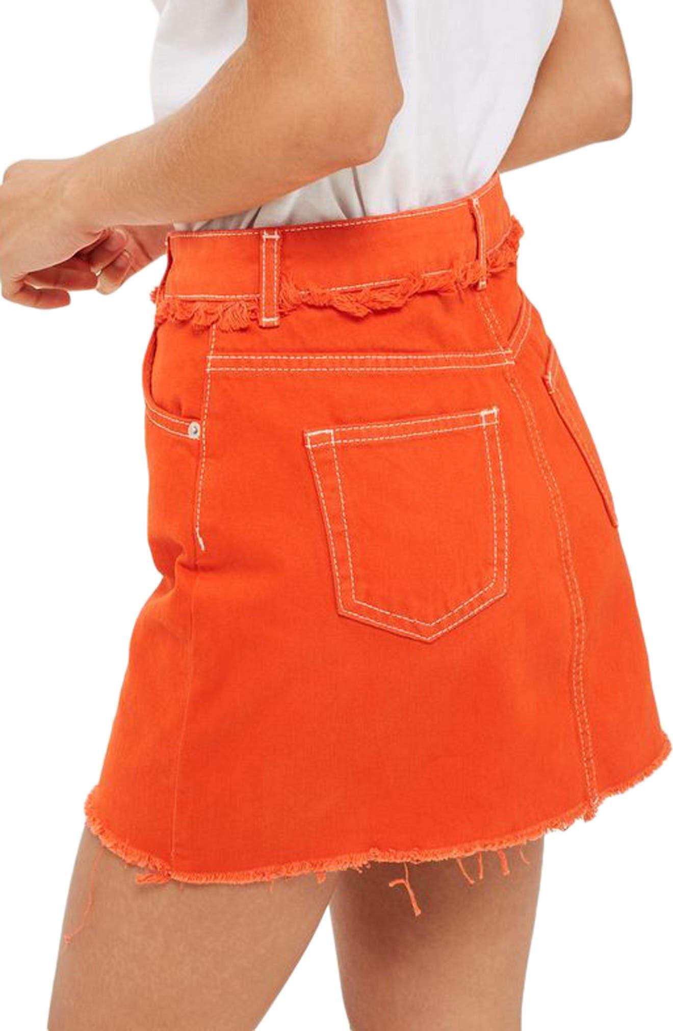 Denim Miniskirt,                             Alternate thumbnail 2, color,                             600
