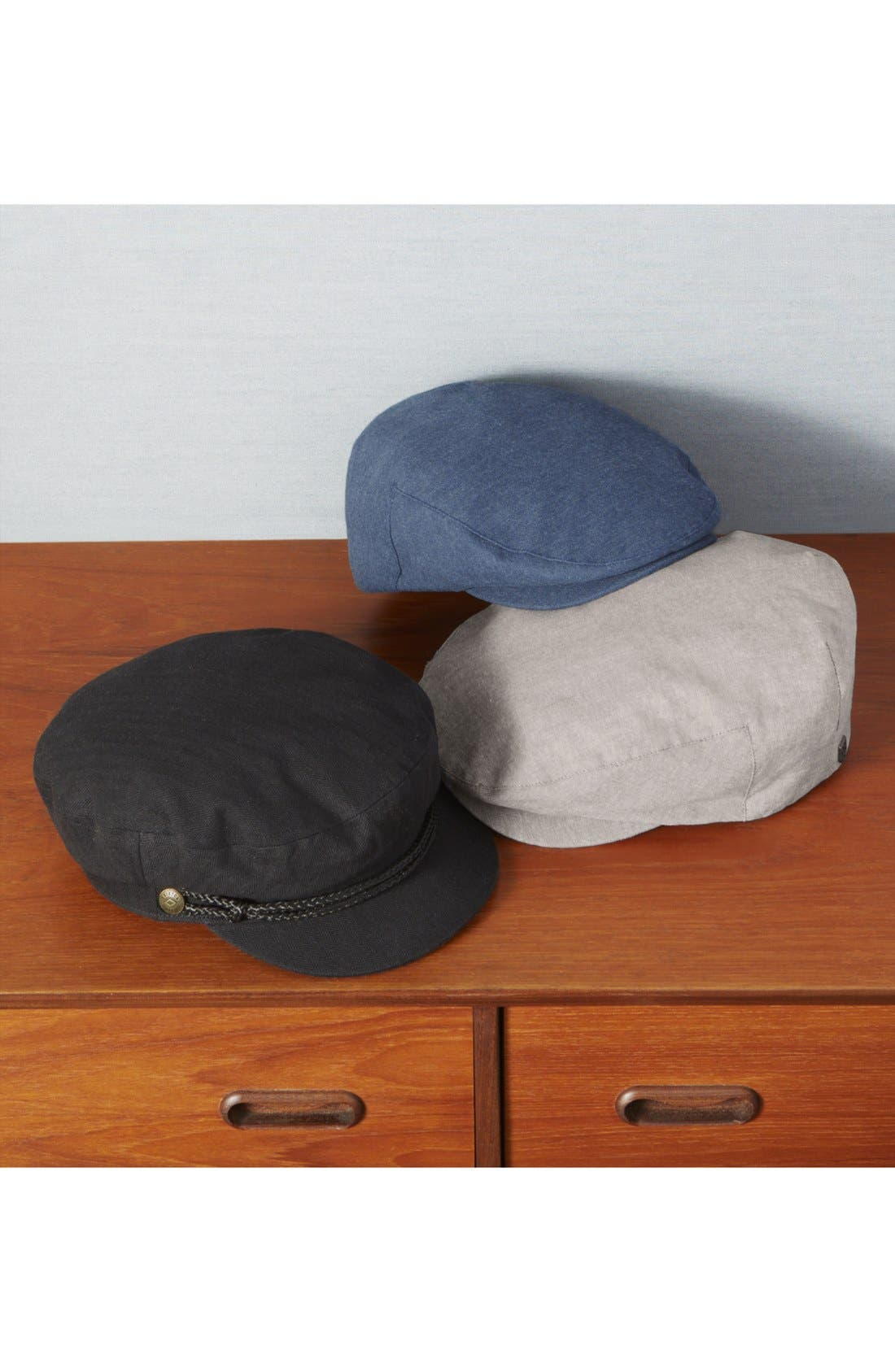 BRIXTON,                             Barrel Driving Cap,                             Alternate thumbnail 3, color,                             BROWN/BURGUNDY