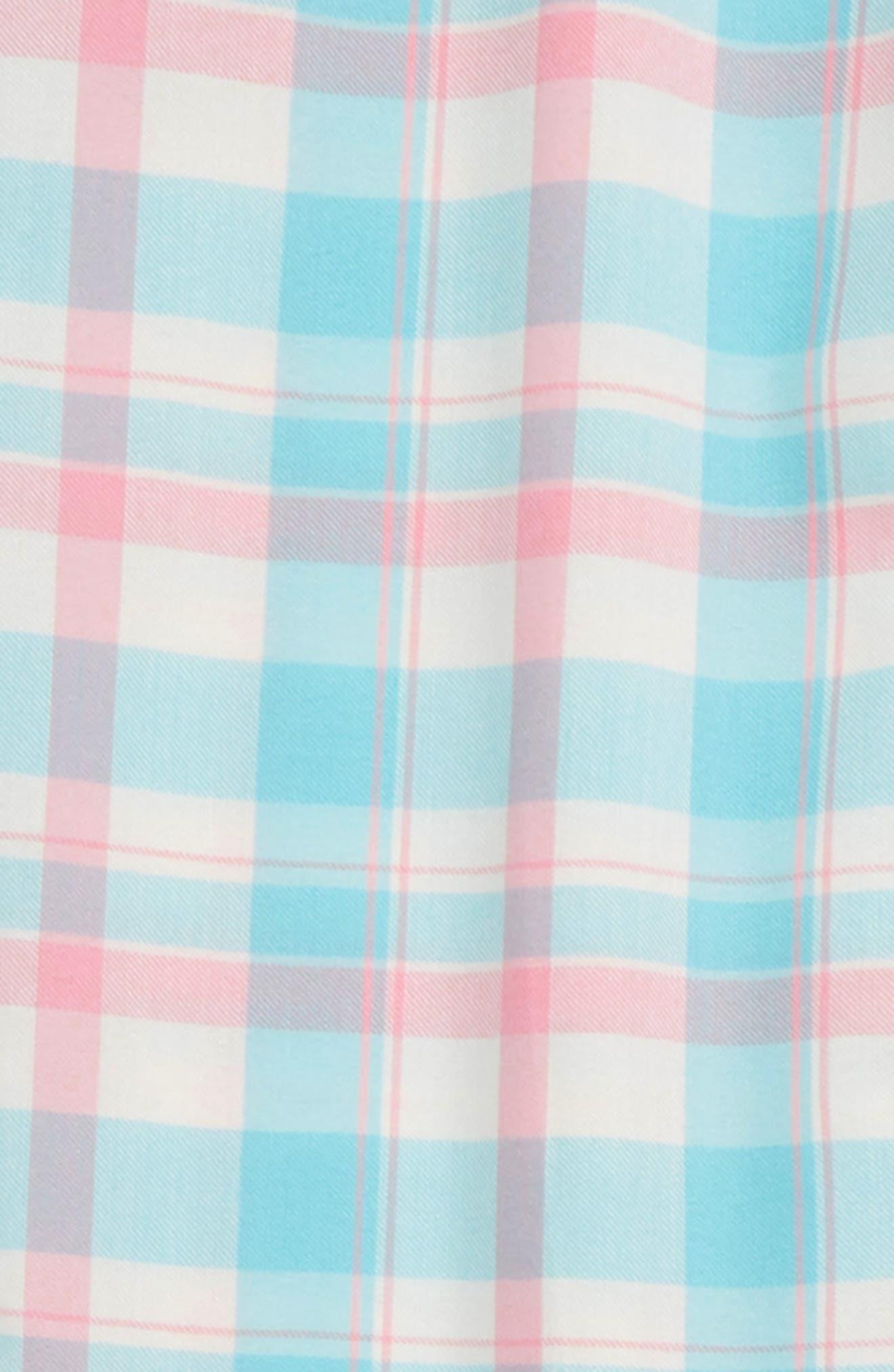 Flannel Pajama Pants,                             Alternate thumbnail 2, color,                             TEAL CAPRI PLAID