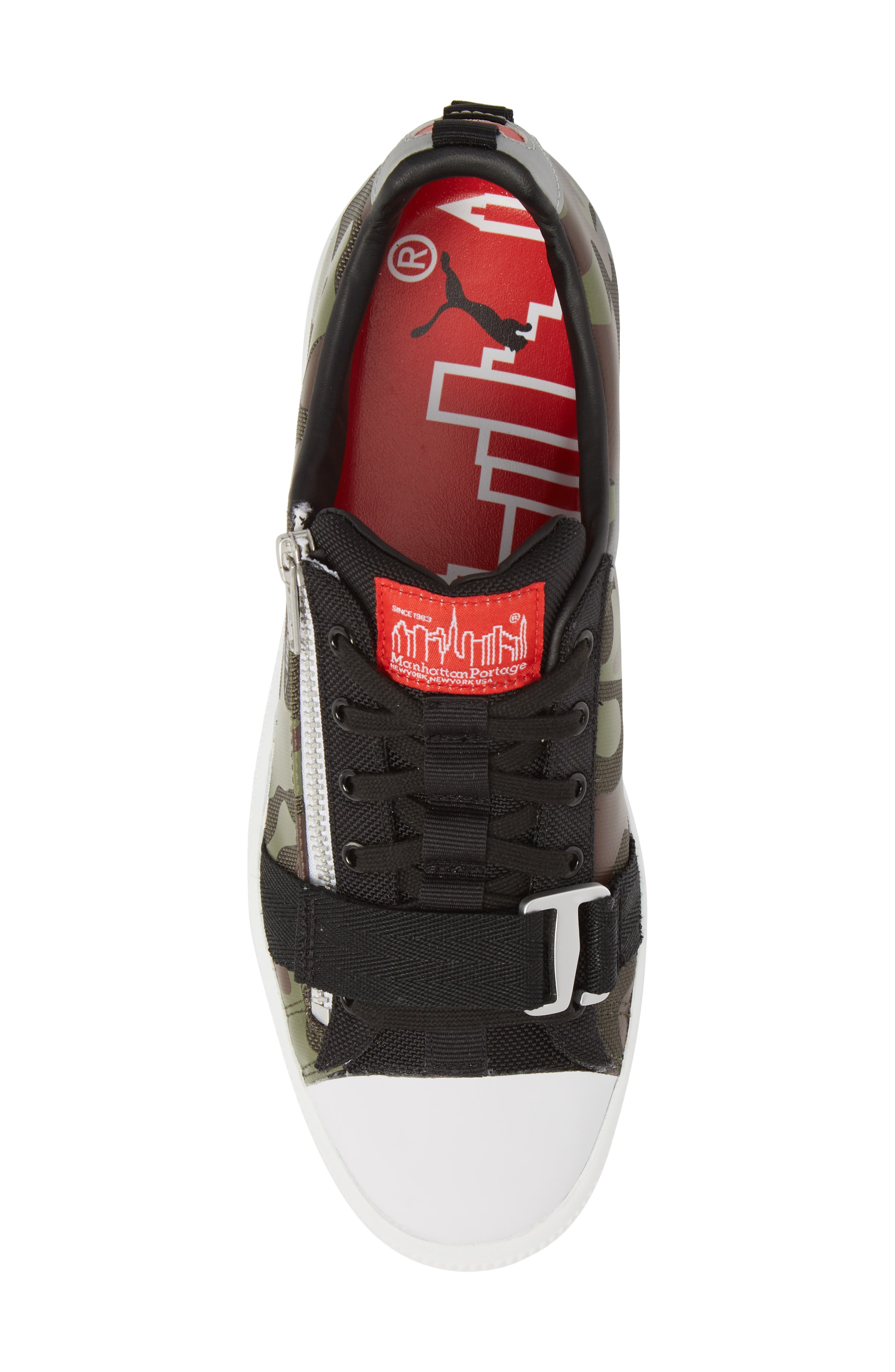 x MANHATTAN PORTAGE Clyde Zip Sneaker,                             Alternate thumbnail 5, color,                             300