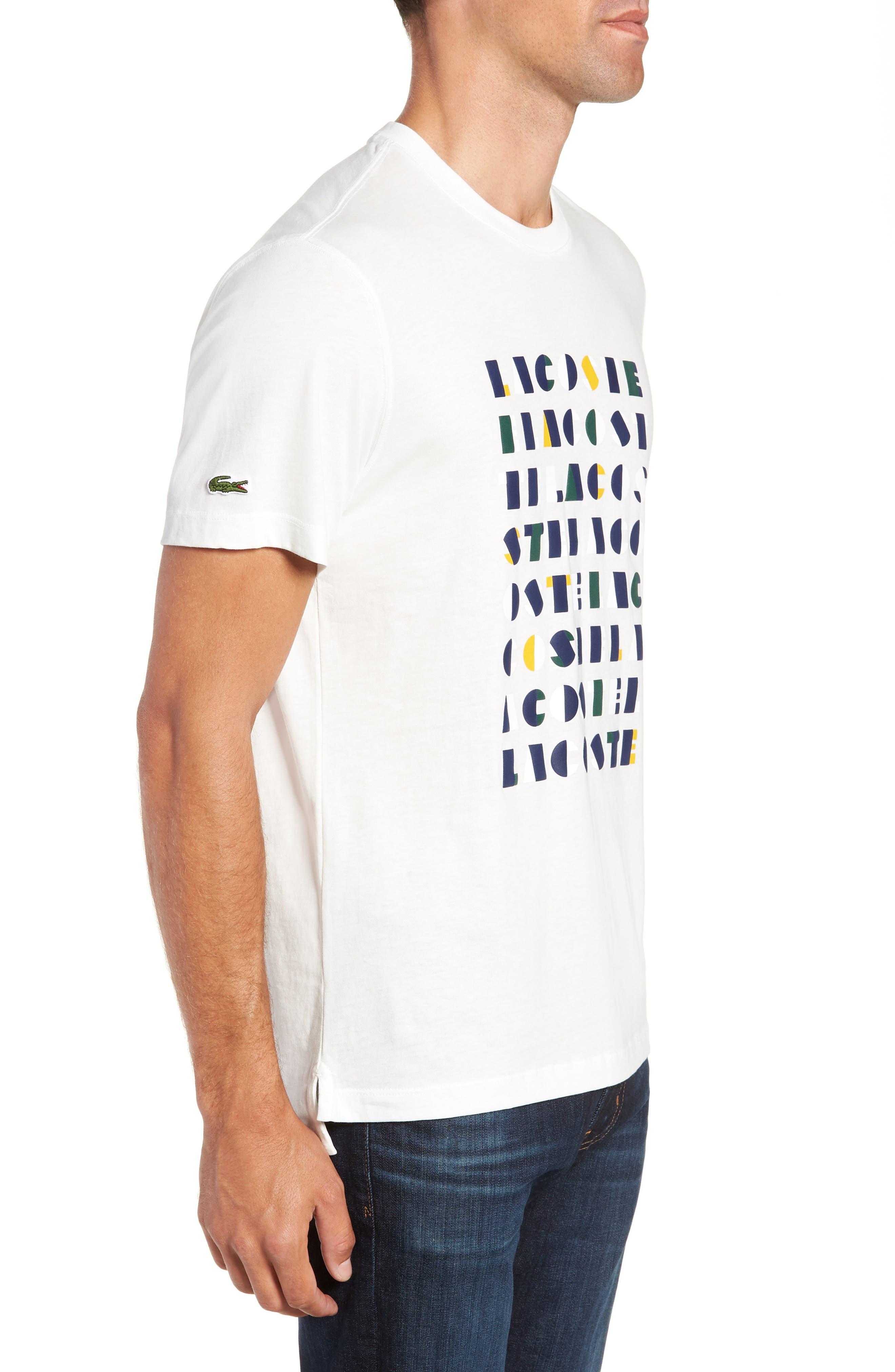LACOSTE,                             Letter Graphic T-Shirt,                             Alternate thumbnail 3, color,                             104