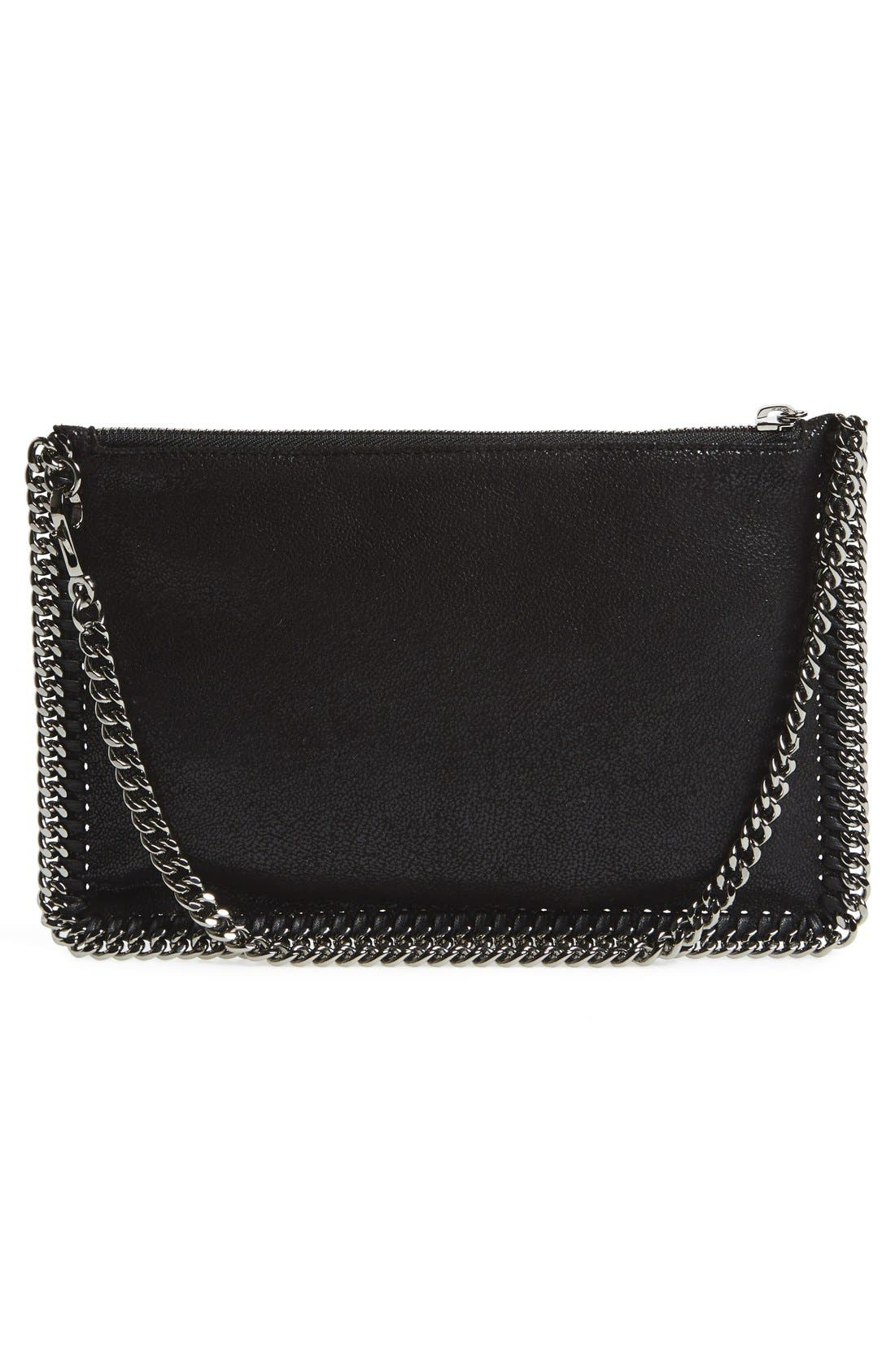 'Falabella' Faux Leather Pouch with Convertible Strap,                             Alternate thumbnail 3, color,                             002