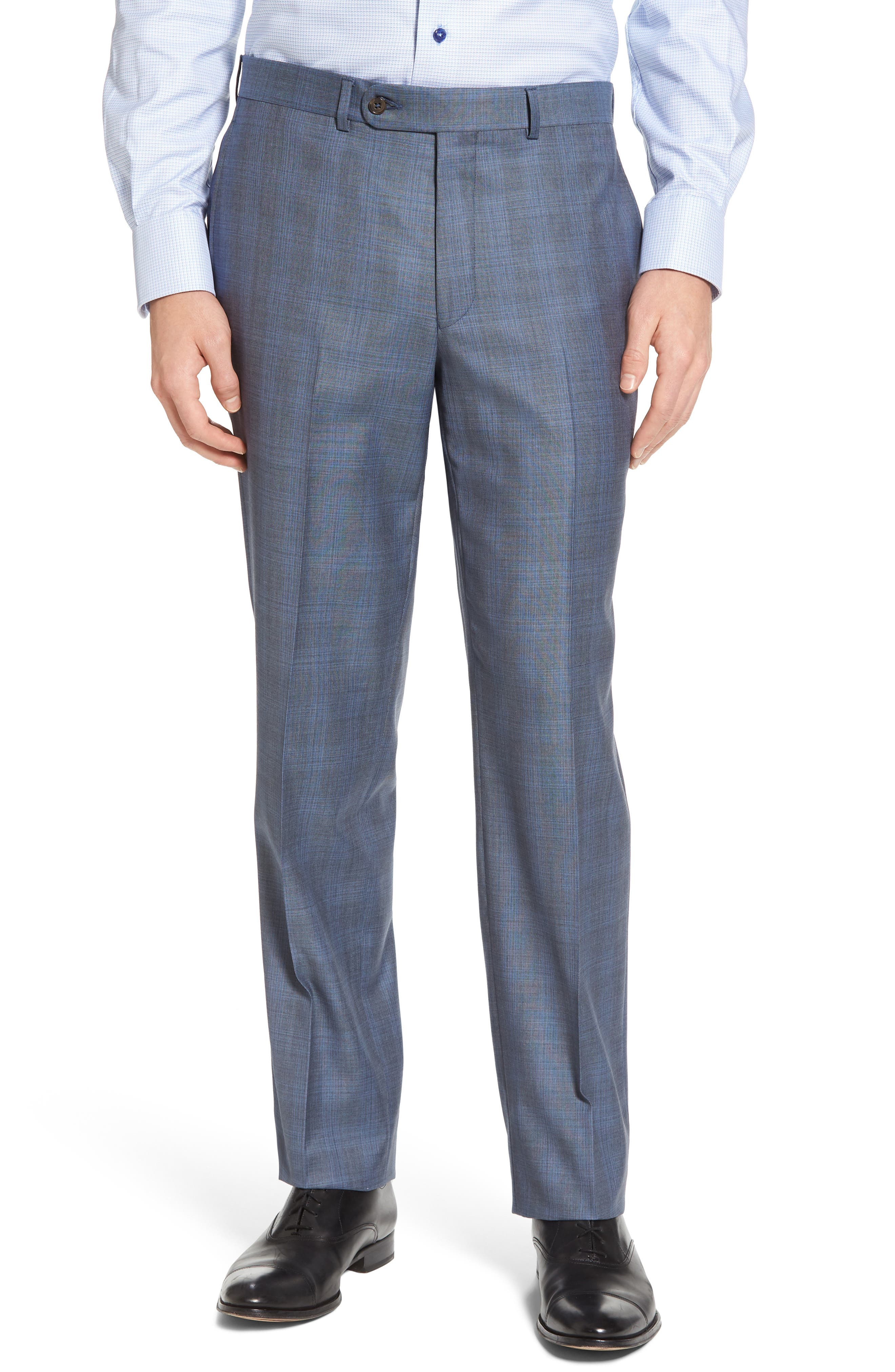 Ryan Classic Fit Plaid Wool Suit,                             Alternate thumbnail 6, color,                             020