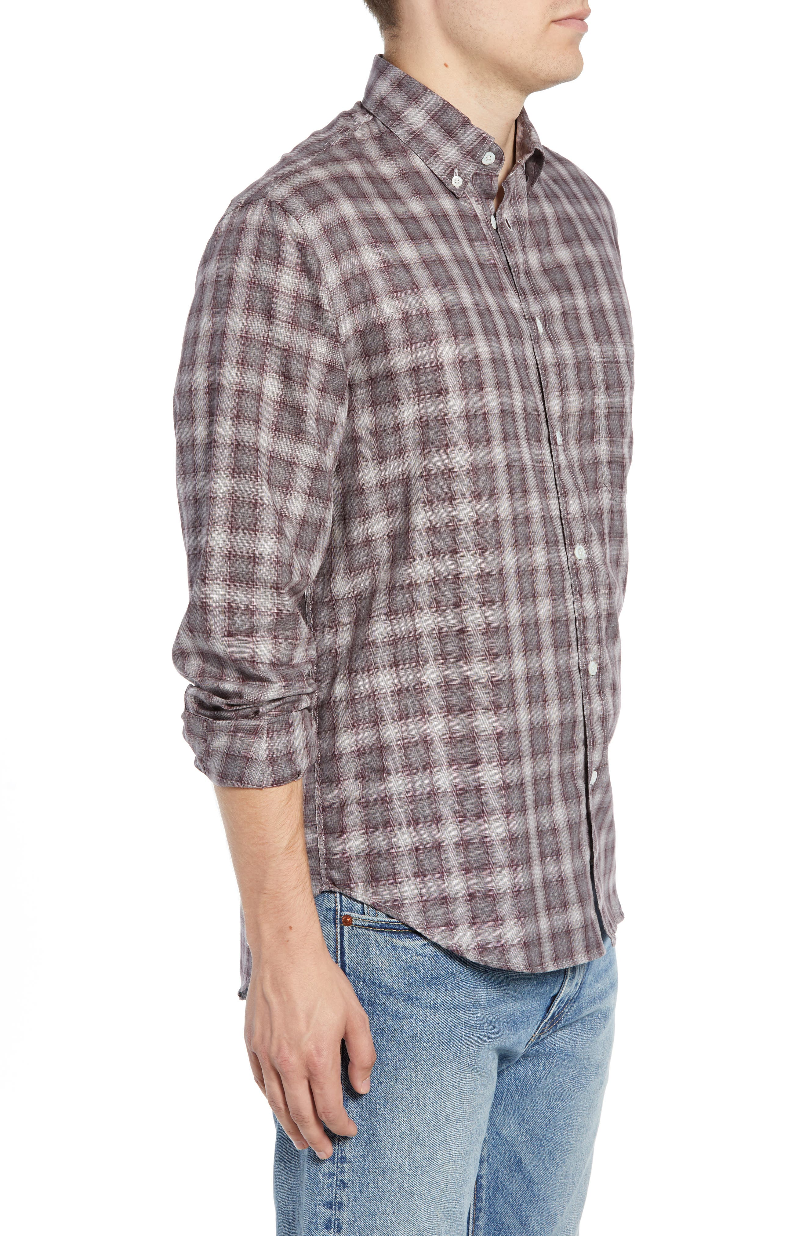Tuscumbia Regular Fit Plaid Sport Shirt,                             Alternate thumbnail 4, color,                             930