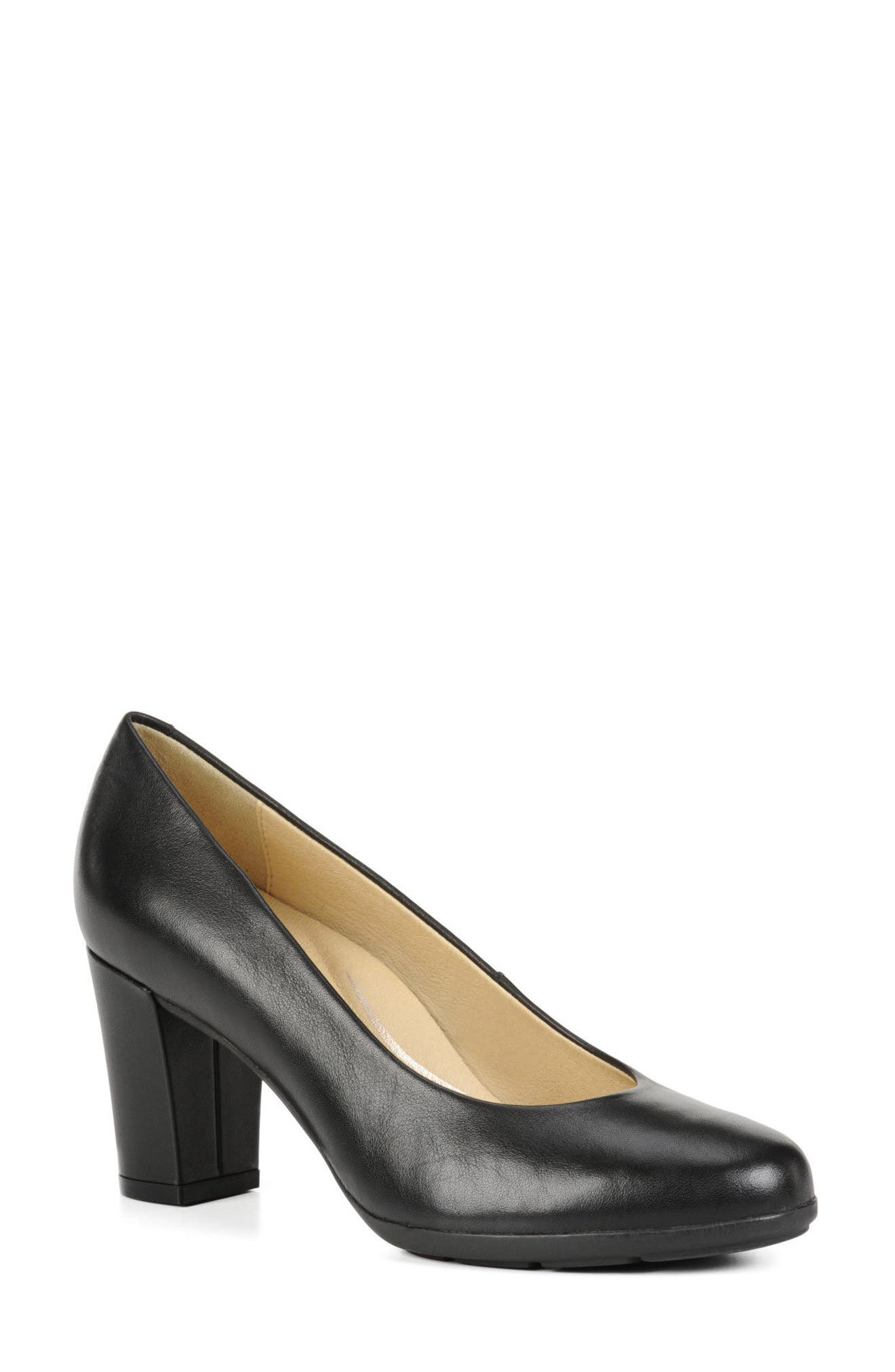Annya Pump,                         Main,                         color, BLACK NAPPA LEATHER