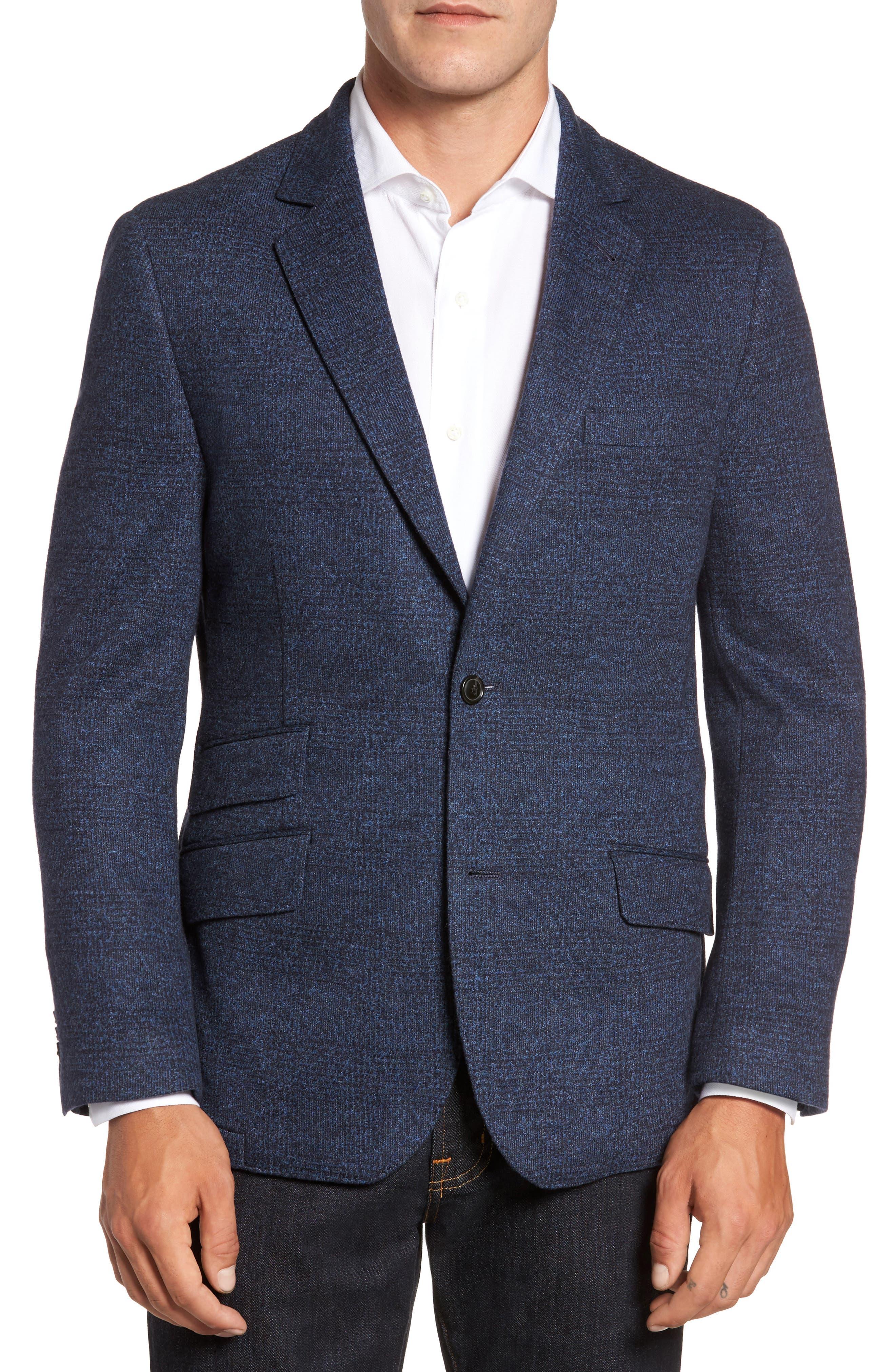 Classic Fit Cotton & Wool Jersey Sport Coat,                             Main thumbnail 1, color,