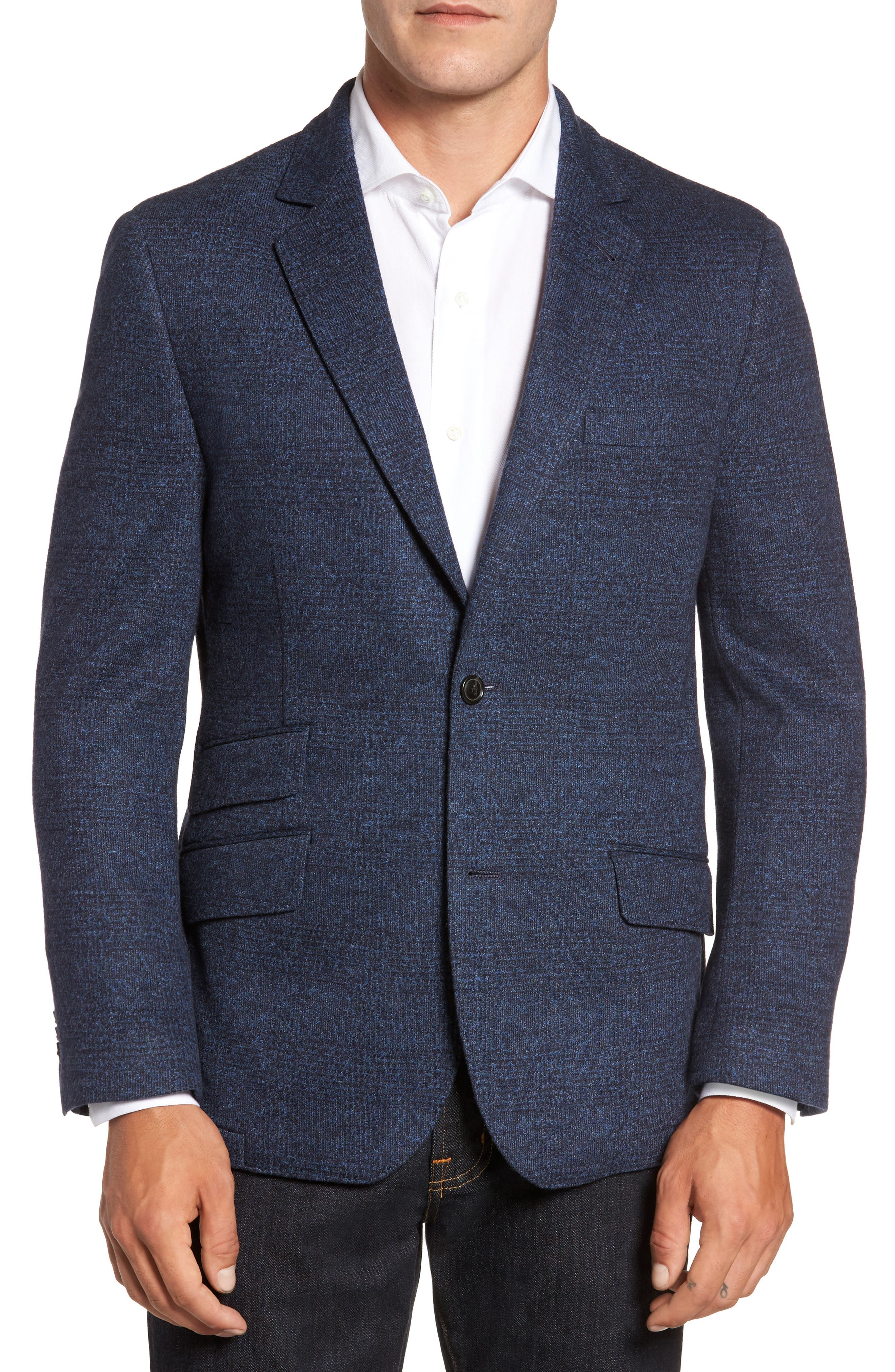 Classic Fit Cotton & Wool Jersey Sport Coat,                         Main,                         color, 420