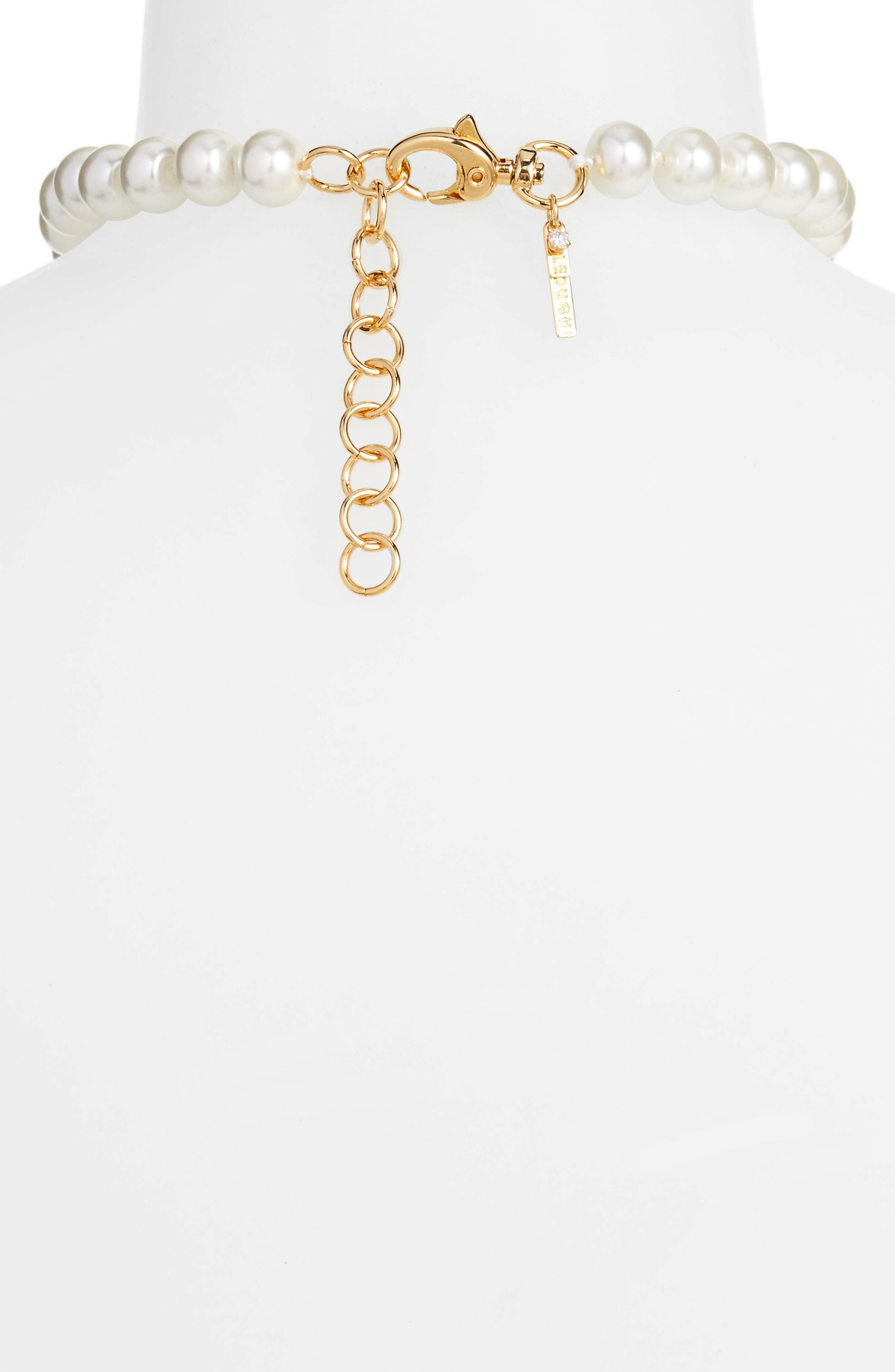 Copacabana Collar Necklace,                             Alternate thumbnail 3, color,                             PEARL