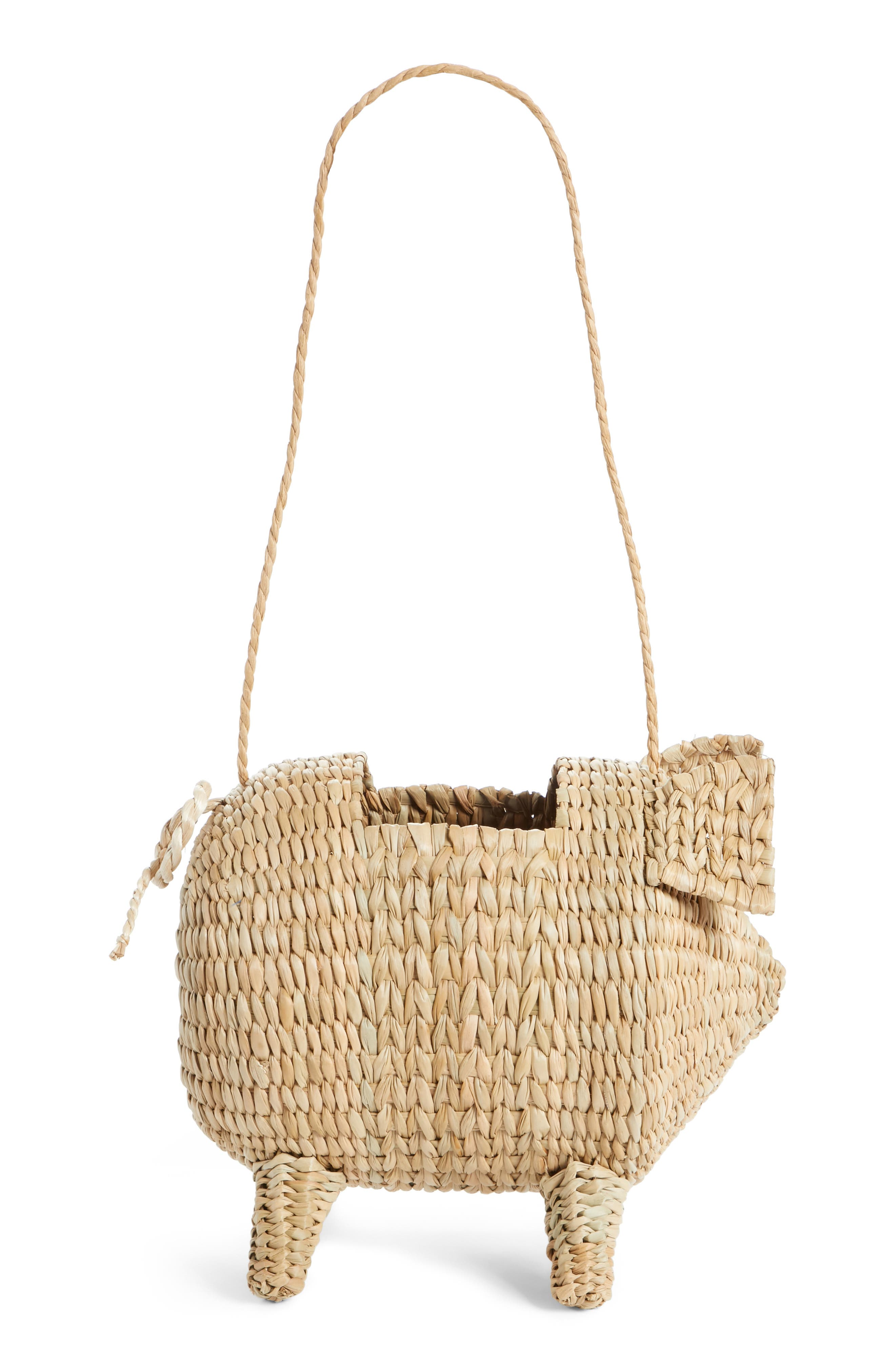 The Babe Straw Bag,                         Main,                         color, NATURAL