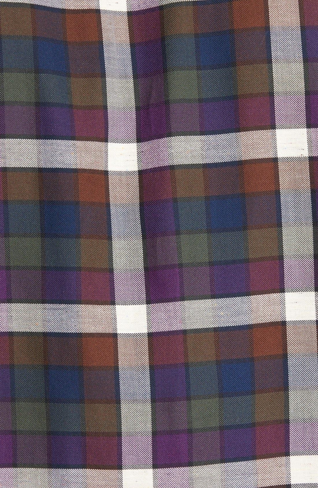 'Allister' Sports Fit Plaid Flannel Sport Shirt,                             Alternate thumbnail 5, color,                             503