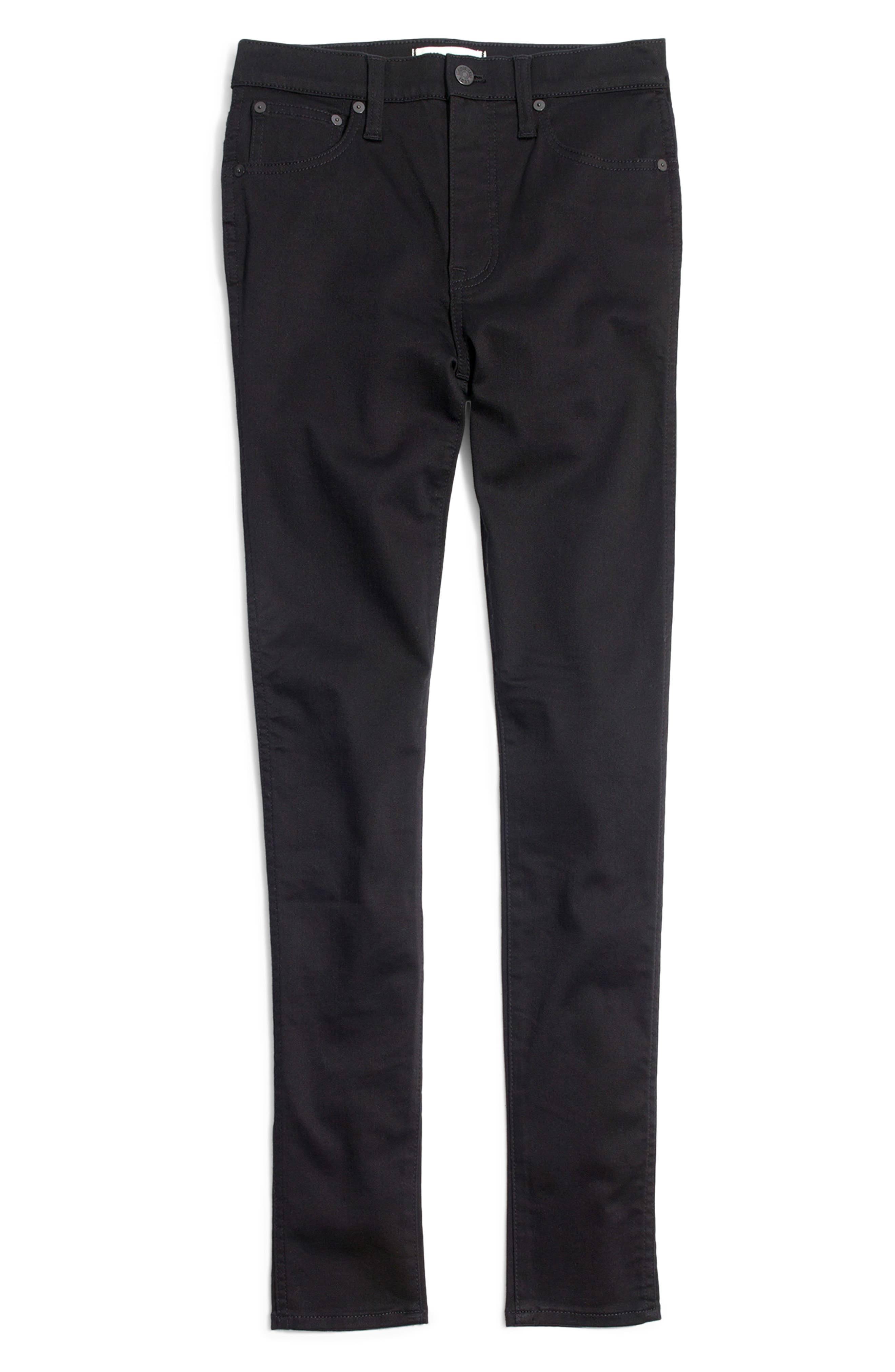 10-Inch High Rise Skinny Jeans,                             Alternate thumbnail 6, color,                             CARBONDALE