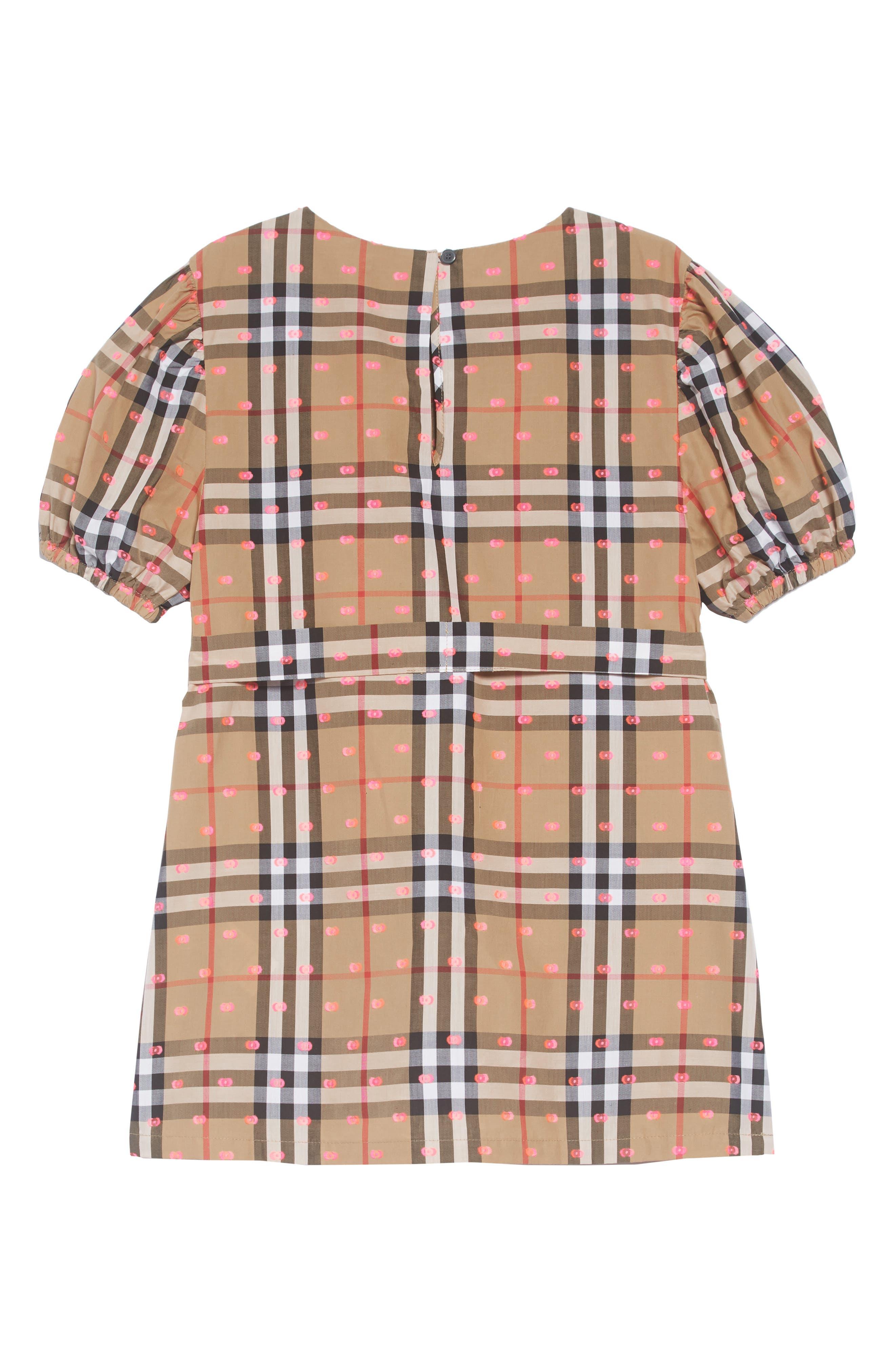 Thelma Vintage Check Dress,                             Alternate thumbnail 2, color,                             ANTIQUE YELLOW