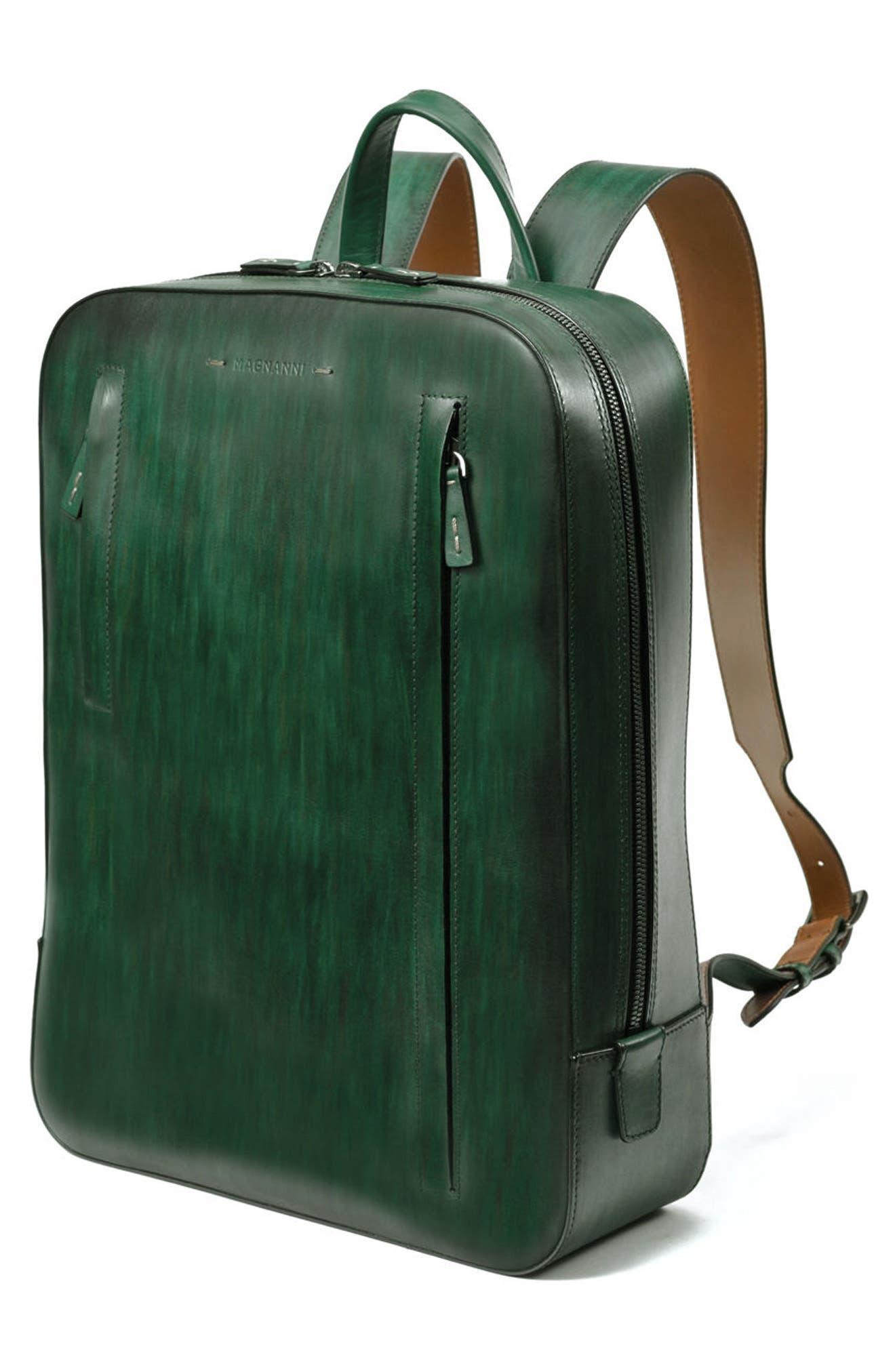 Leather Sport Backpack,                             Alternate thumbnail 5, color,