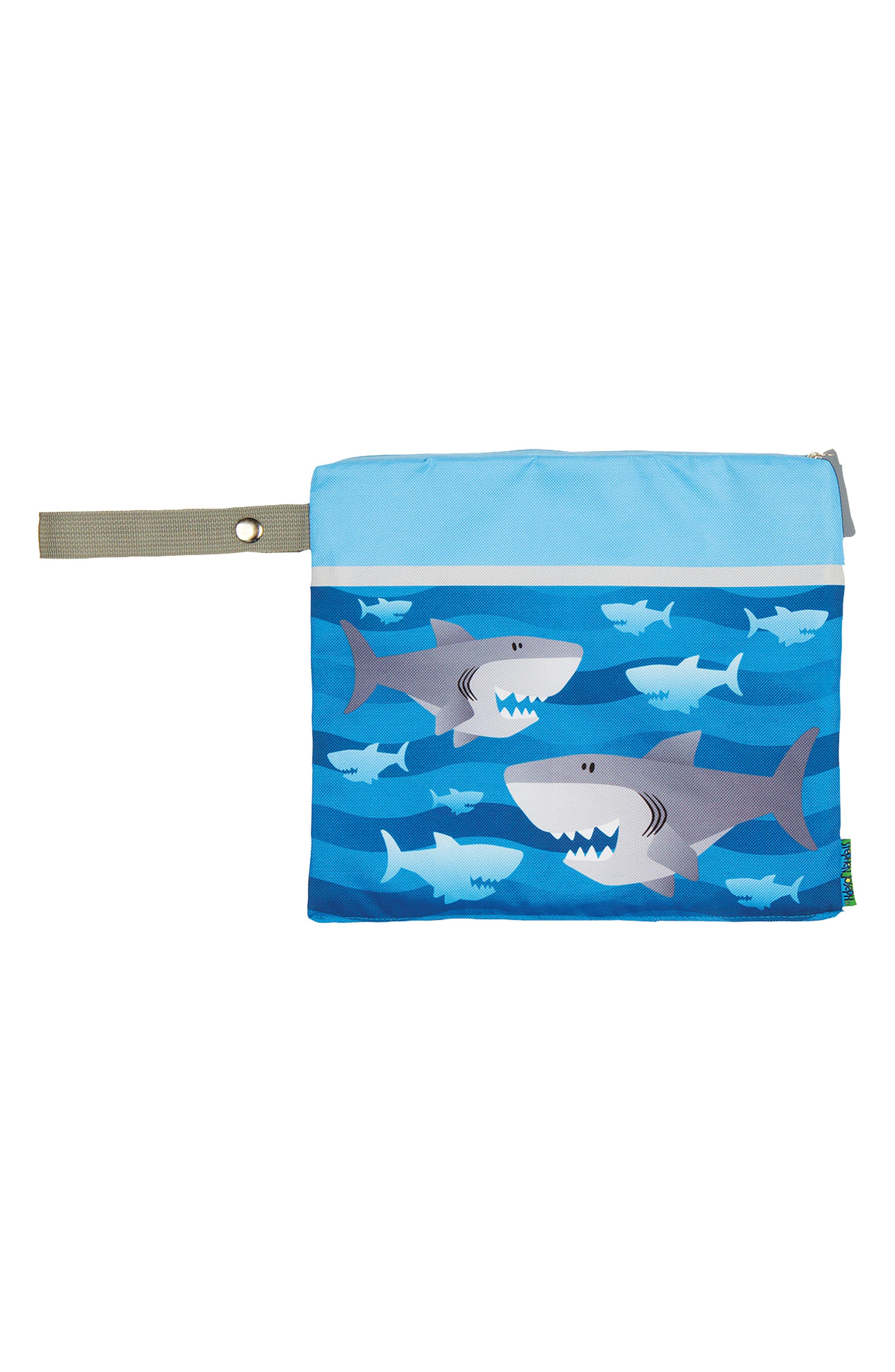 Bag, Hooded Towel & Goggles,                             Alternate thumbnail 3, color,                             BLUE SHARK