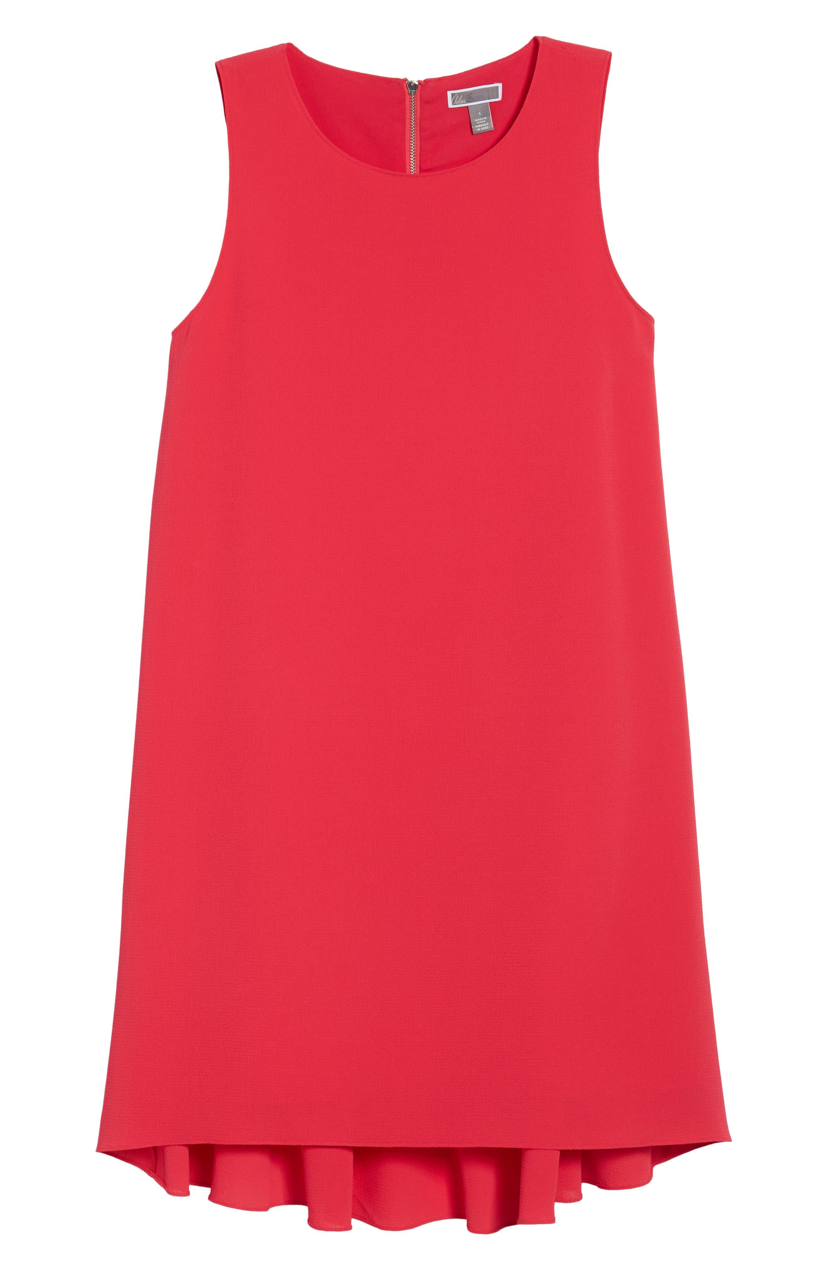 Zipper Back Ruffle Dress,                             Alternate thumbnail 19, color,