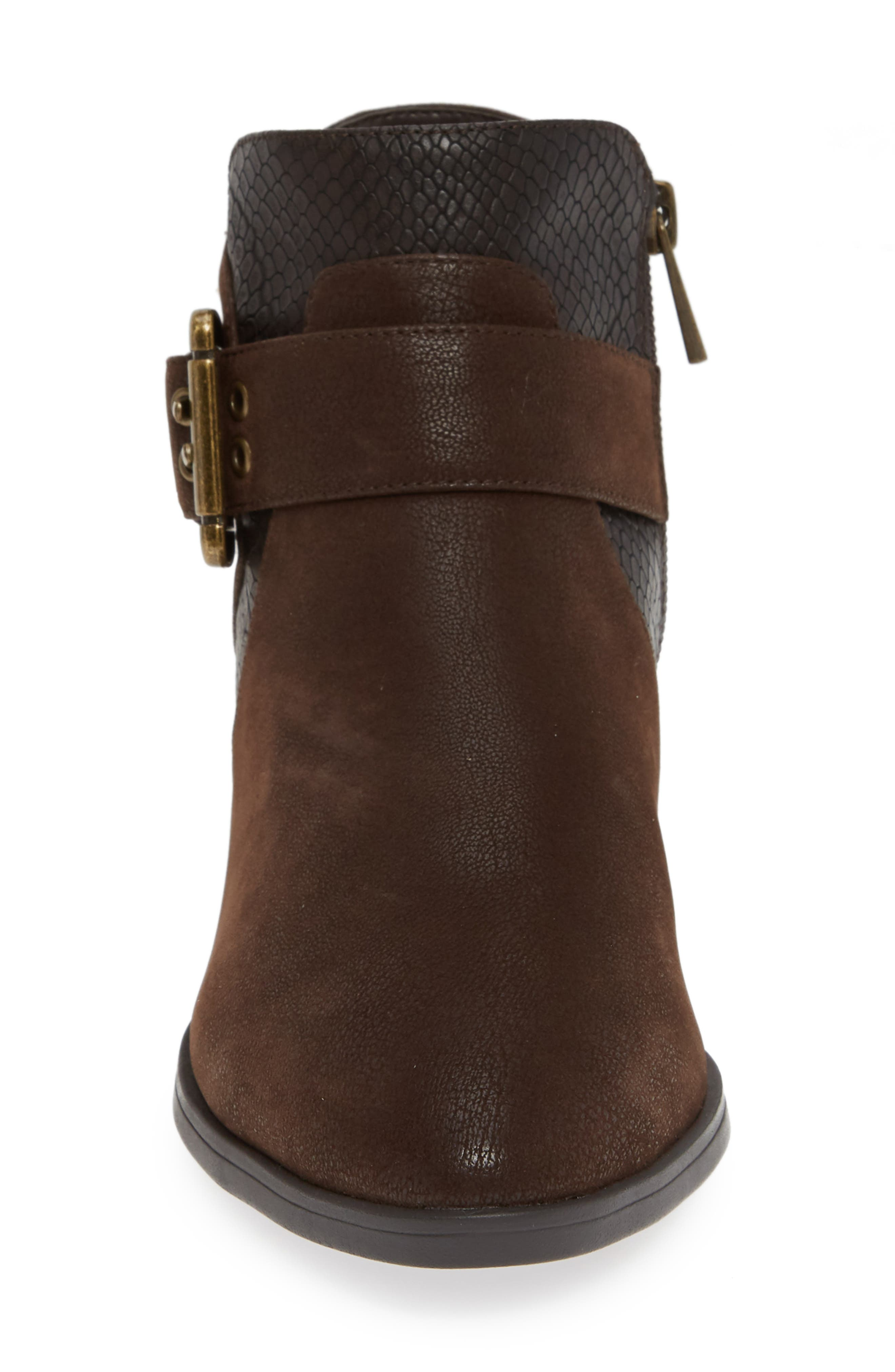 Honor II Bootie,                             Alternate thumbnail 4, color,                             BROWN LEATHER