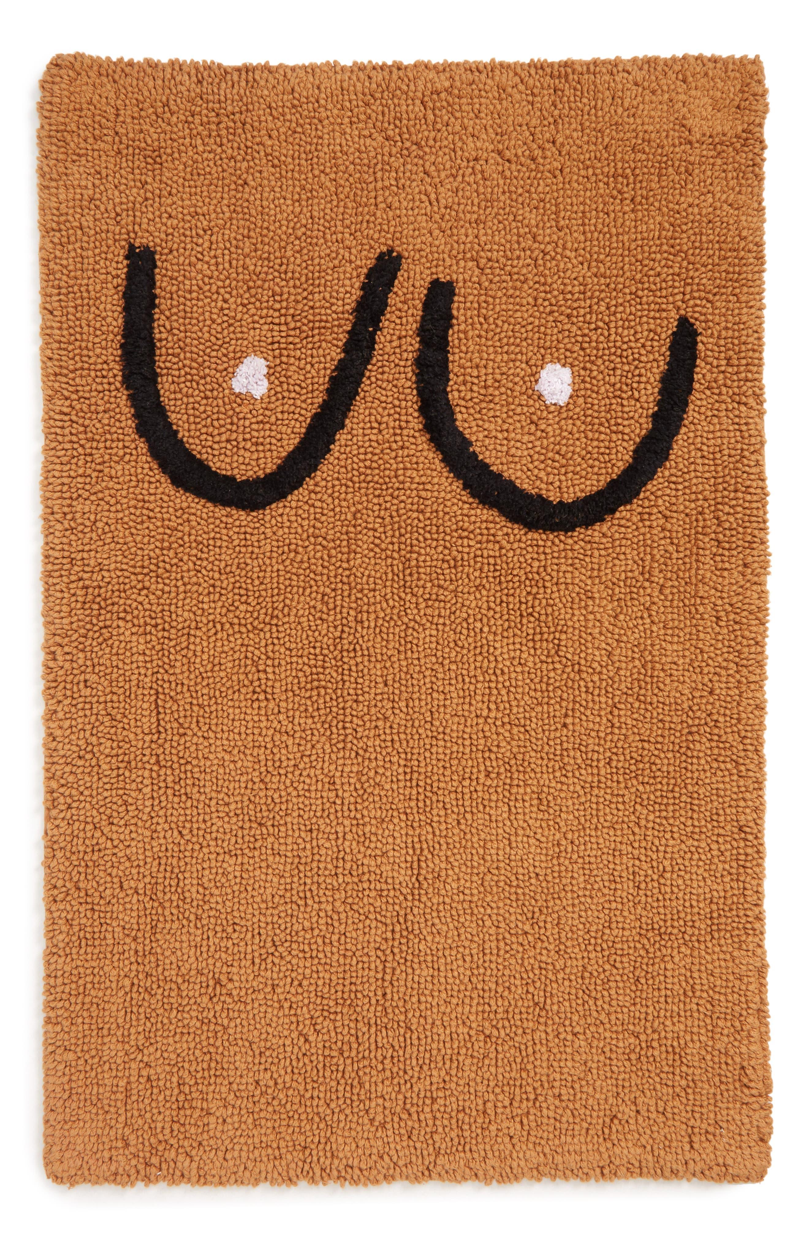 Boob Bathmat, Main, color, BROWN