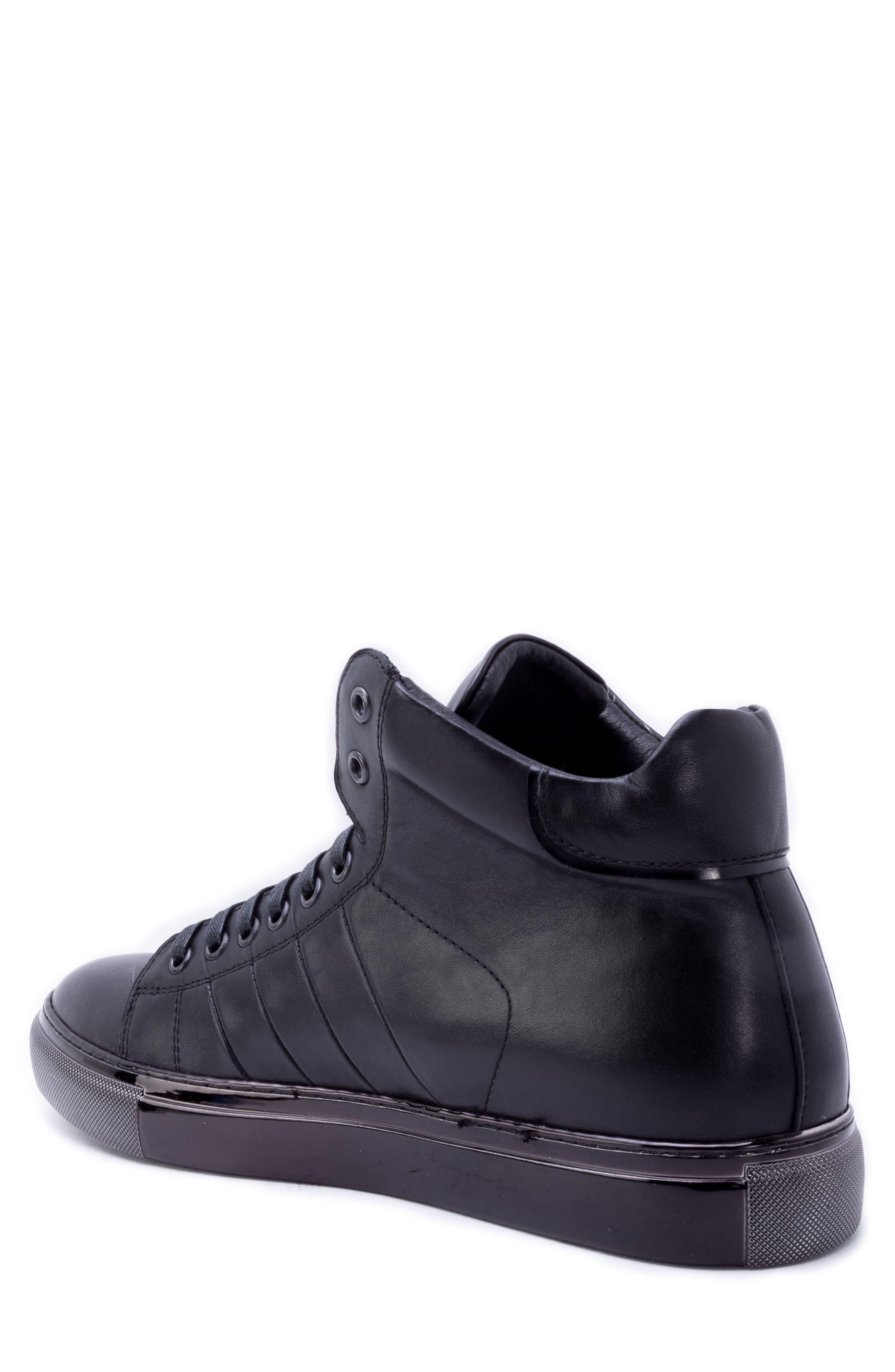 Crosby Sneaker,                             Alternate thumbnail 2, color,                             BLACK LEATHER