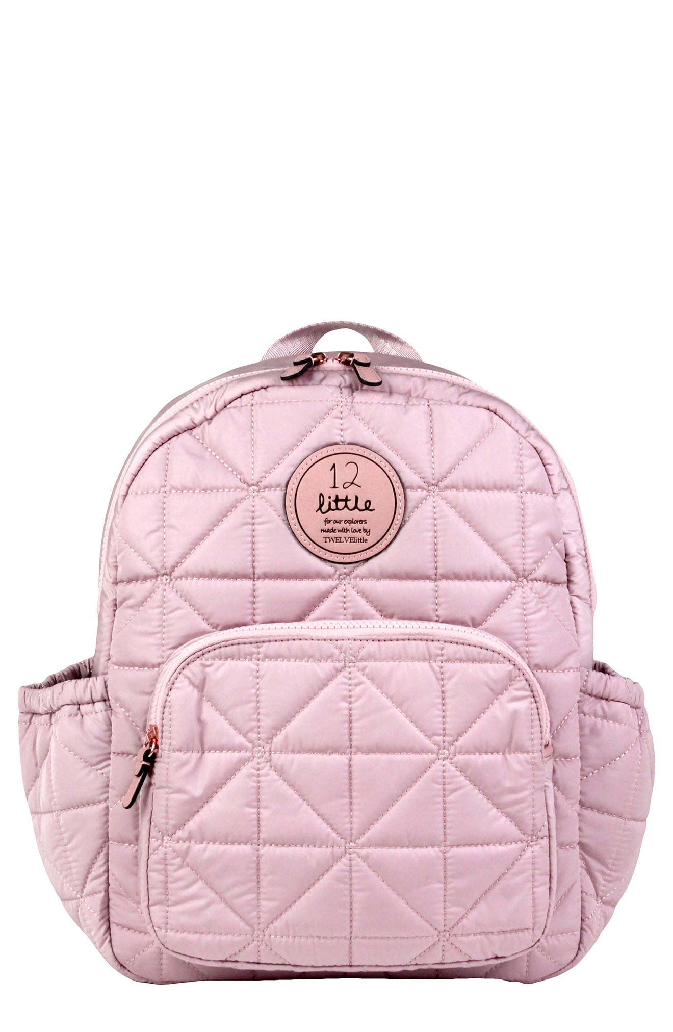 'Companion Backpack' Quilted Nylon Diaper Bag,                             Main thumbnail 1, color,                             BLUSH PINK