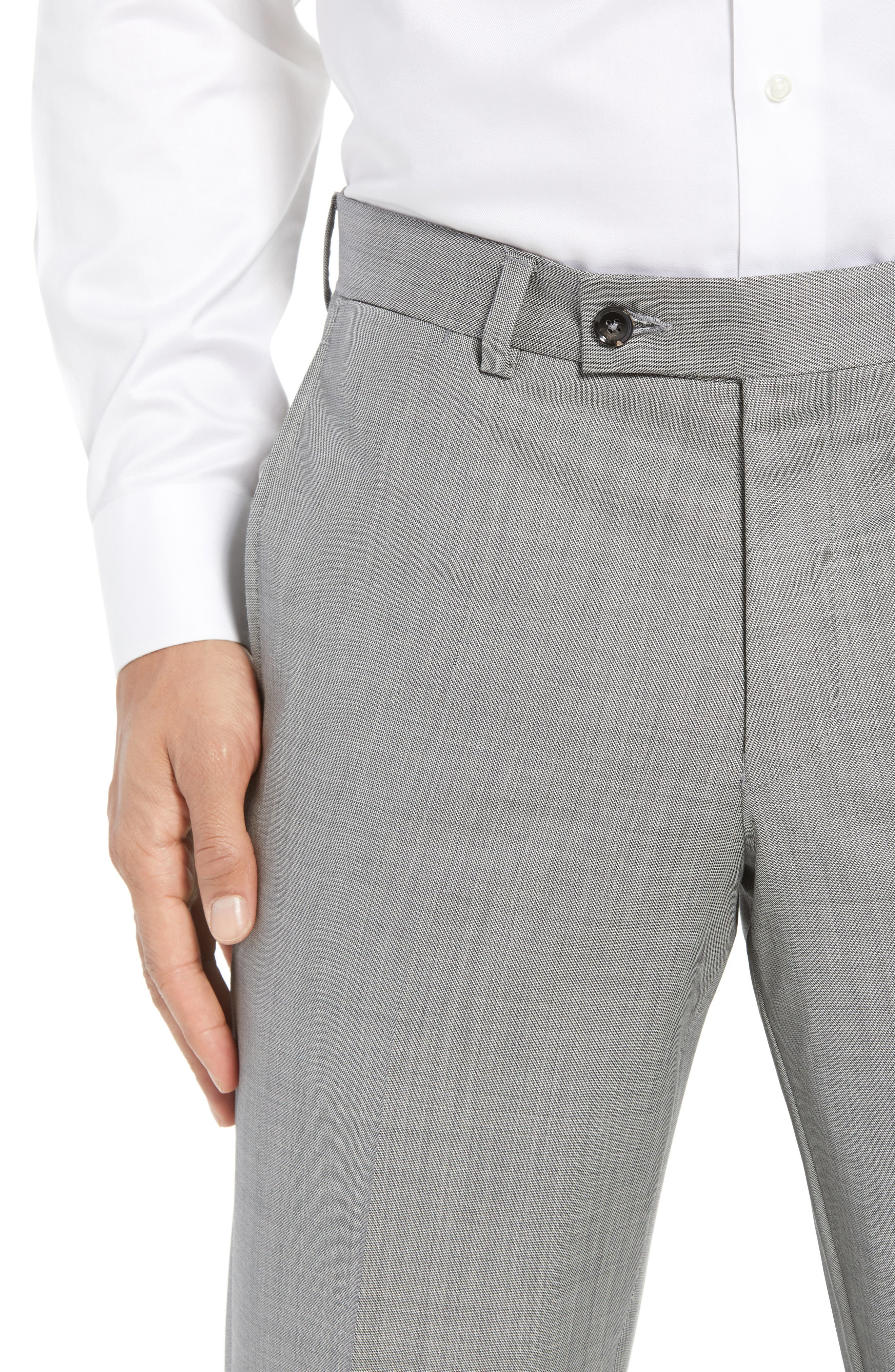 Jefferson Flat Front Wool Trousers,                             Alternate thumbnail 30, color,
