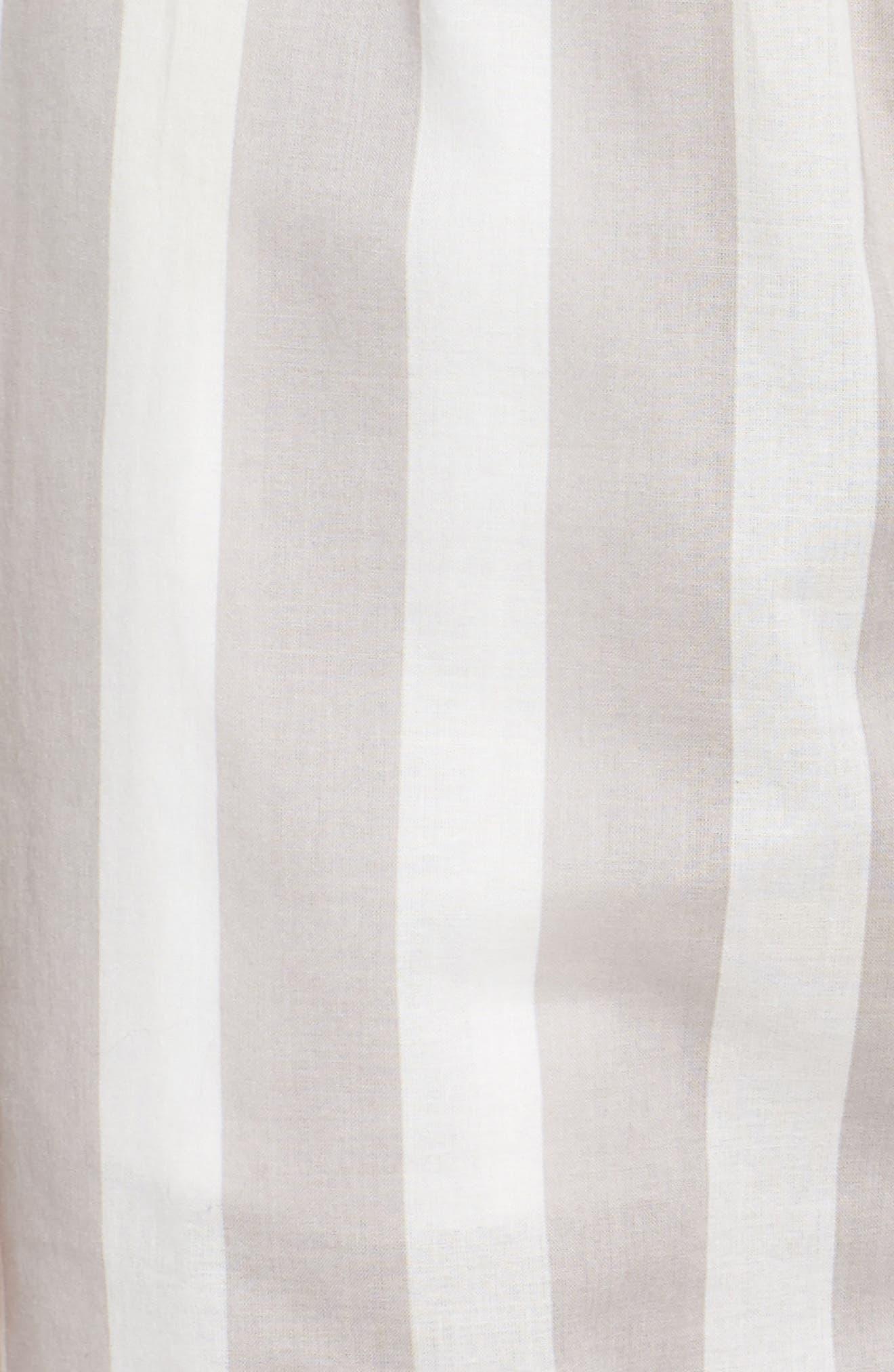 Capri Pajama Pants,                             Alternate thumbnail 5, color,                             GREY STRIPE