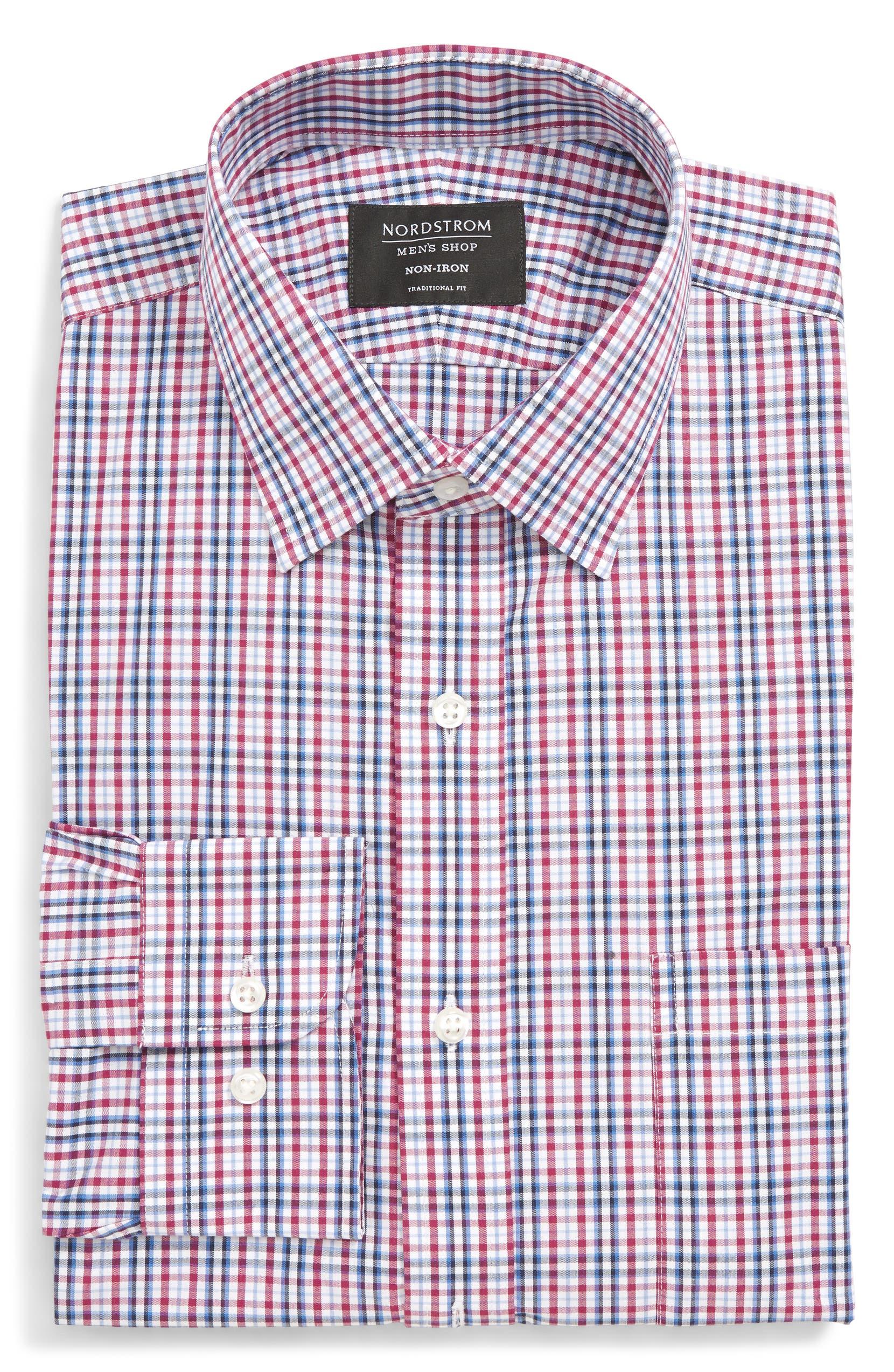 1f2e3c6c07b57 Nordstrom Men s Shop Traditional Fit Non-Iron Plaid Dress Shirt ...