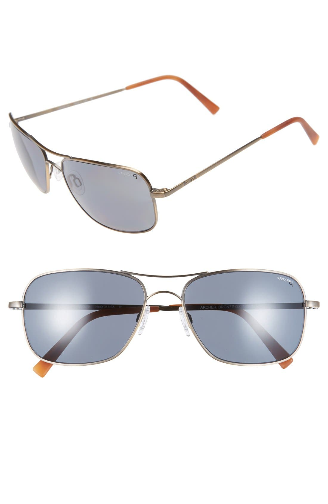 'Archer' 59mm Polarized Sunglasses,                             Main thumbnail 2, color,