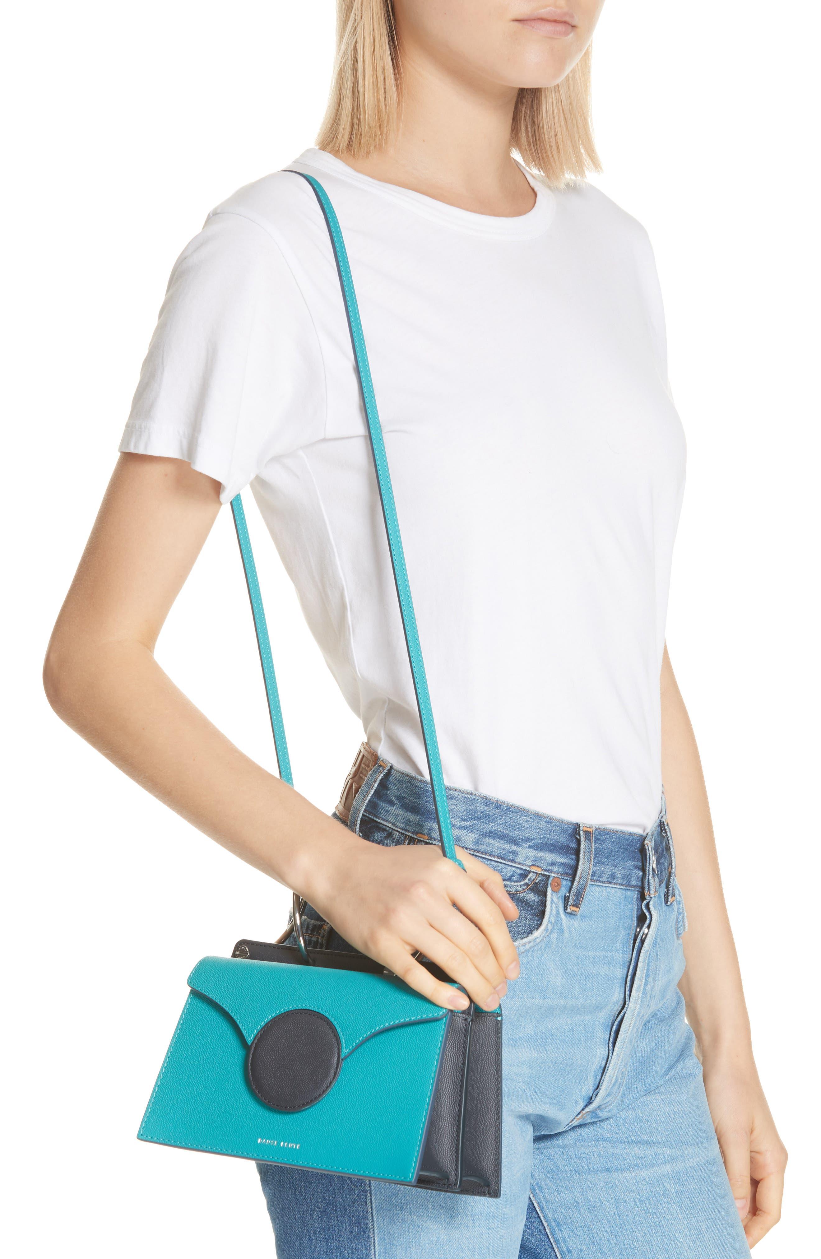 Mini Phoebe Leather Bag,                             Alternate thumbnail 2, color,                             TURQUOISE