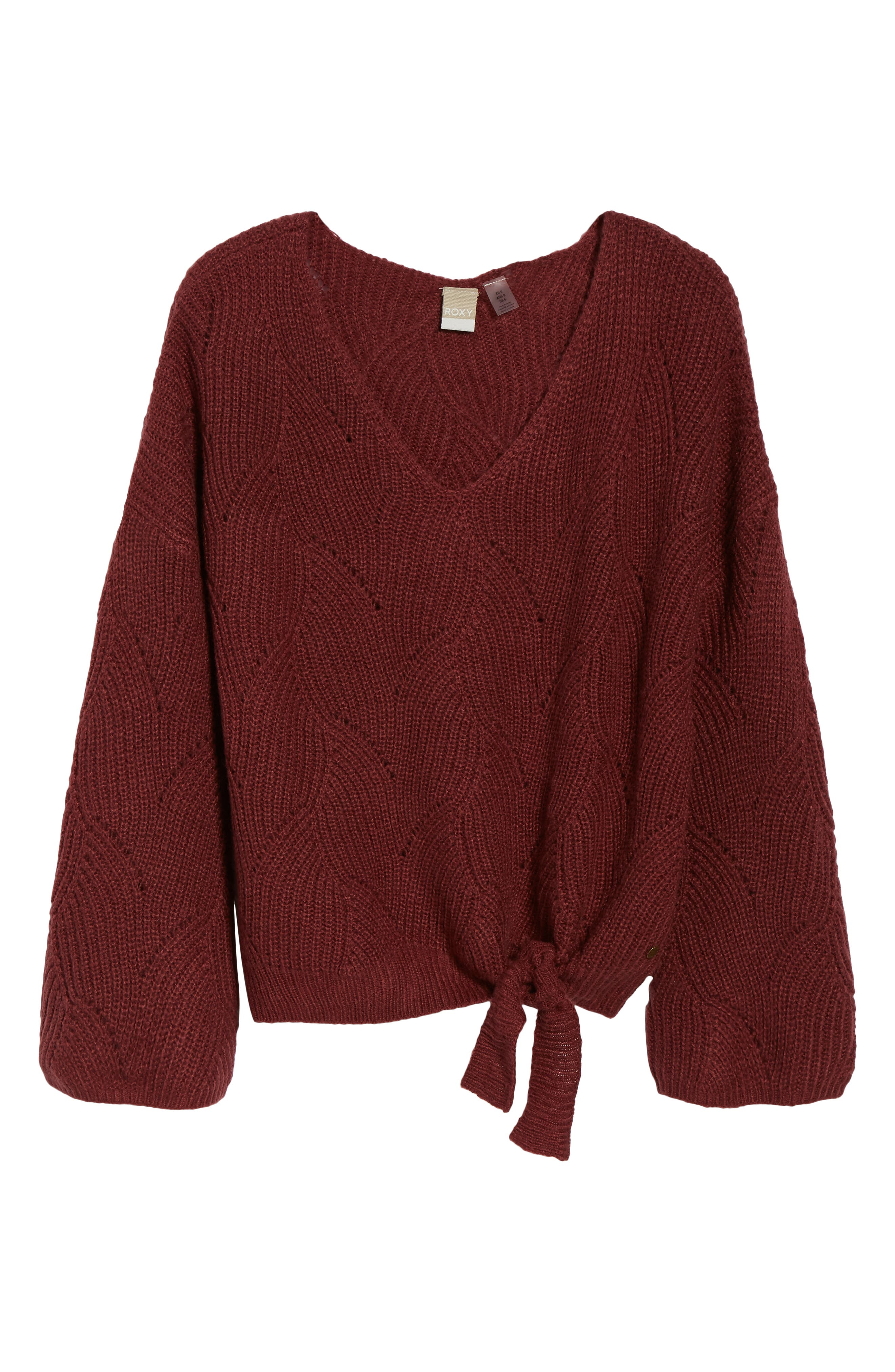 See You In Bali Sweater,                             Alternate thumbnail 6, color,                             OXBLOOD RED