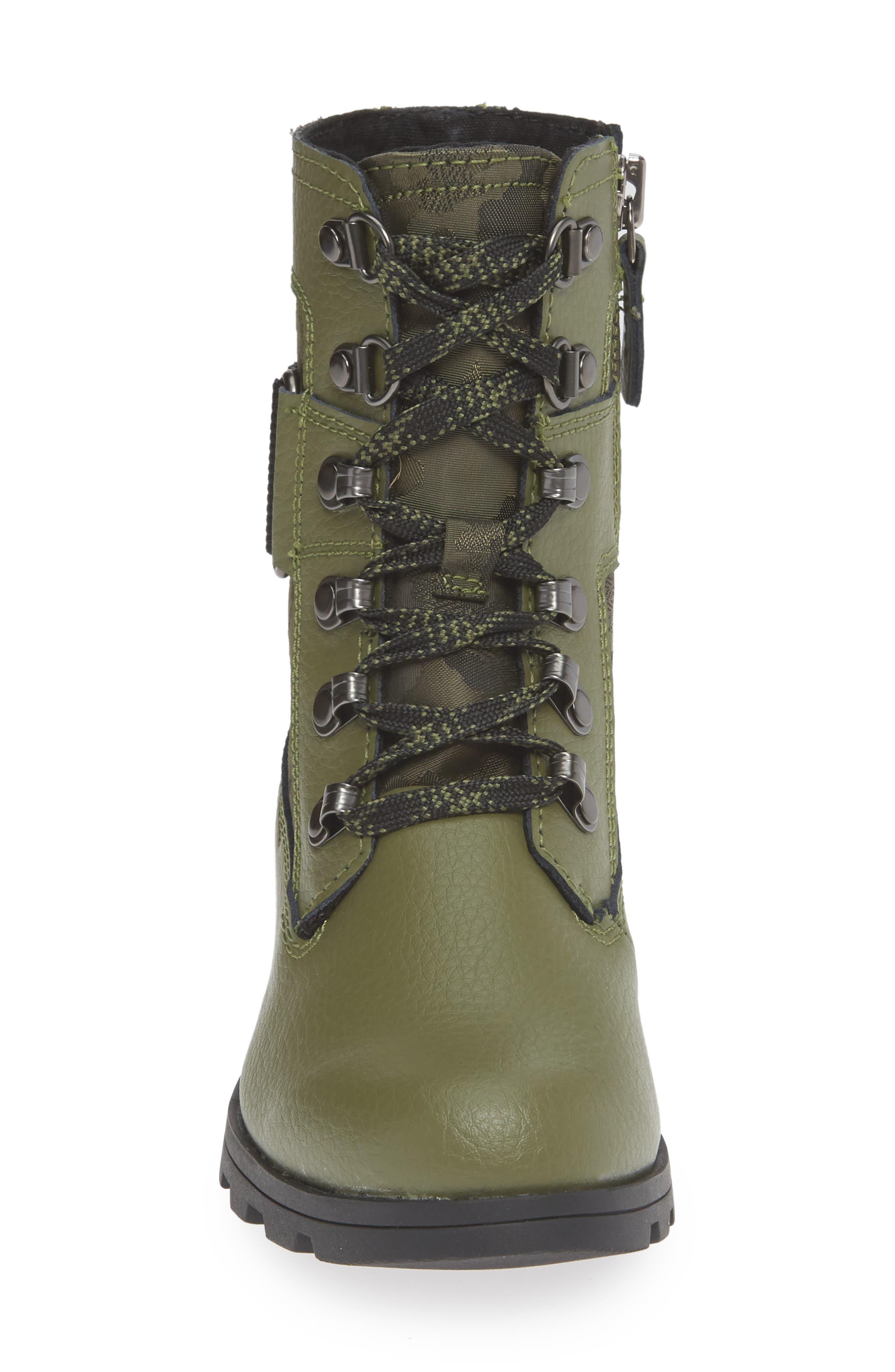 Emelie Waterproof Boot,                             Alternate thumbnail 4, color,                             HIKER GREEN/ BLACK