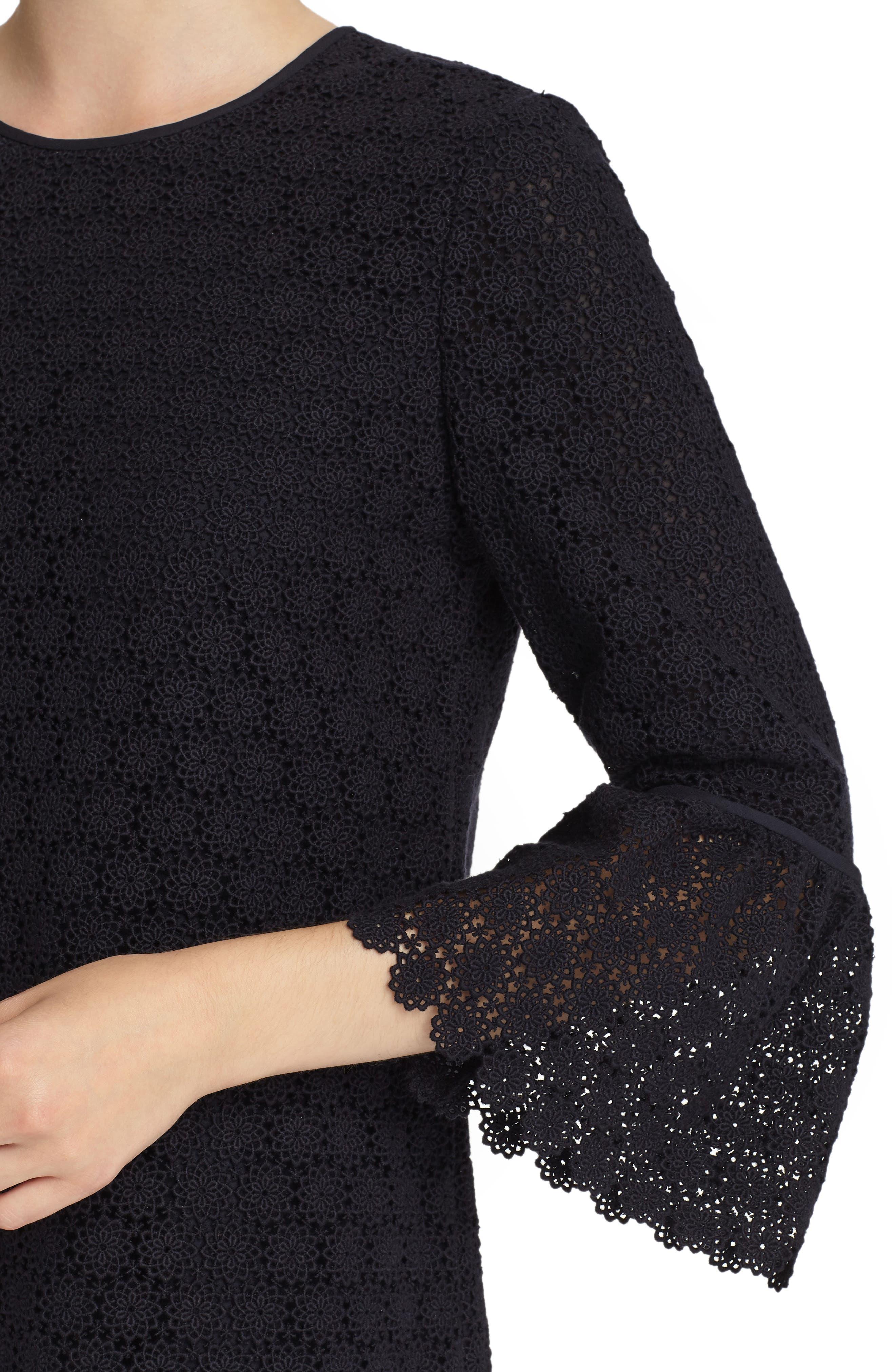 Sidra Bell Sleeve Lace Dress,                             Alternate thumbnail 4, color,                             479